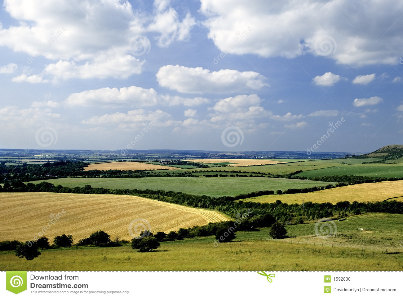 Rollende englische Landschaft