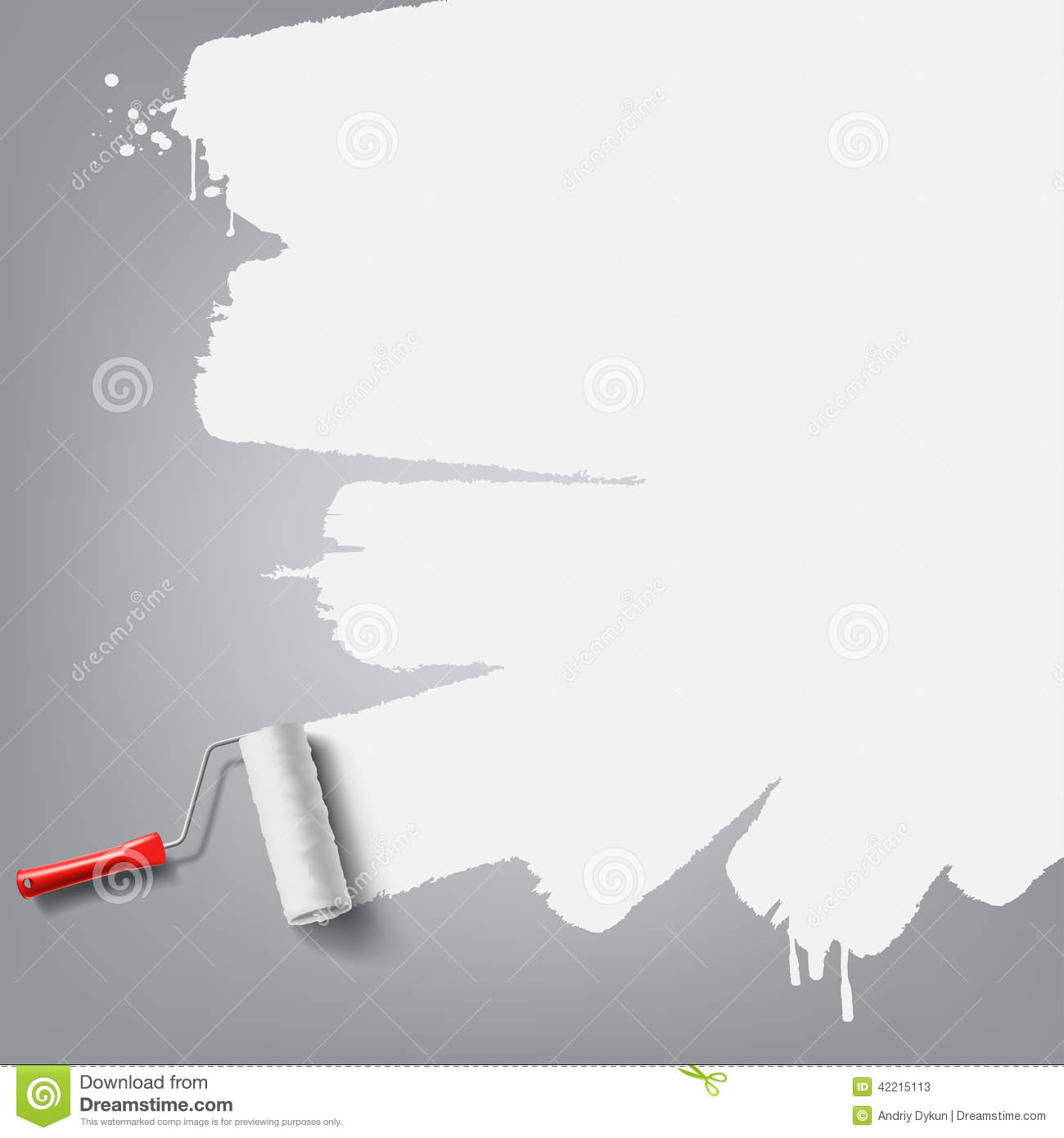 Roller Brush Background Stock Photo Image 42215113