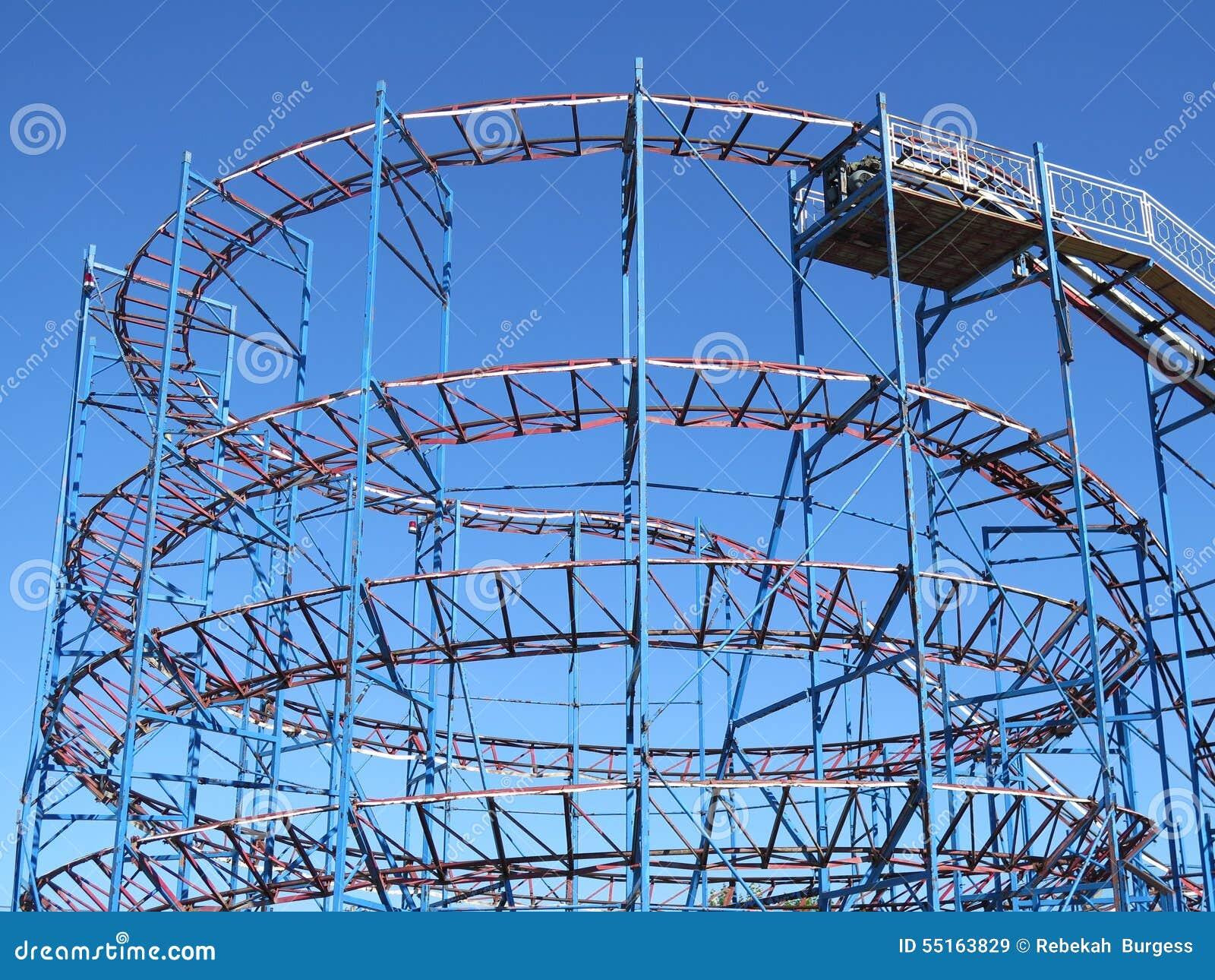 Vintage Backyard Roller Coaster : Roller Coaster Stock Photo  Image 55163829