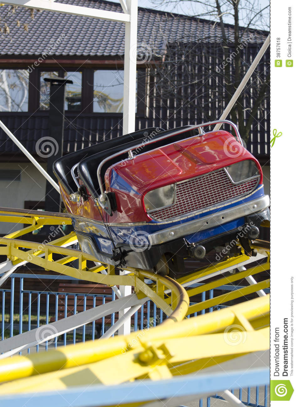 Roller coaster car stock photo. Image of carousel ...