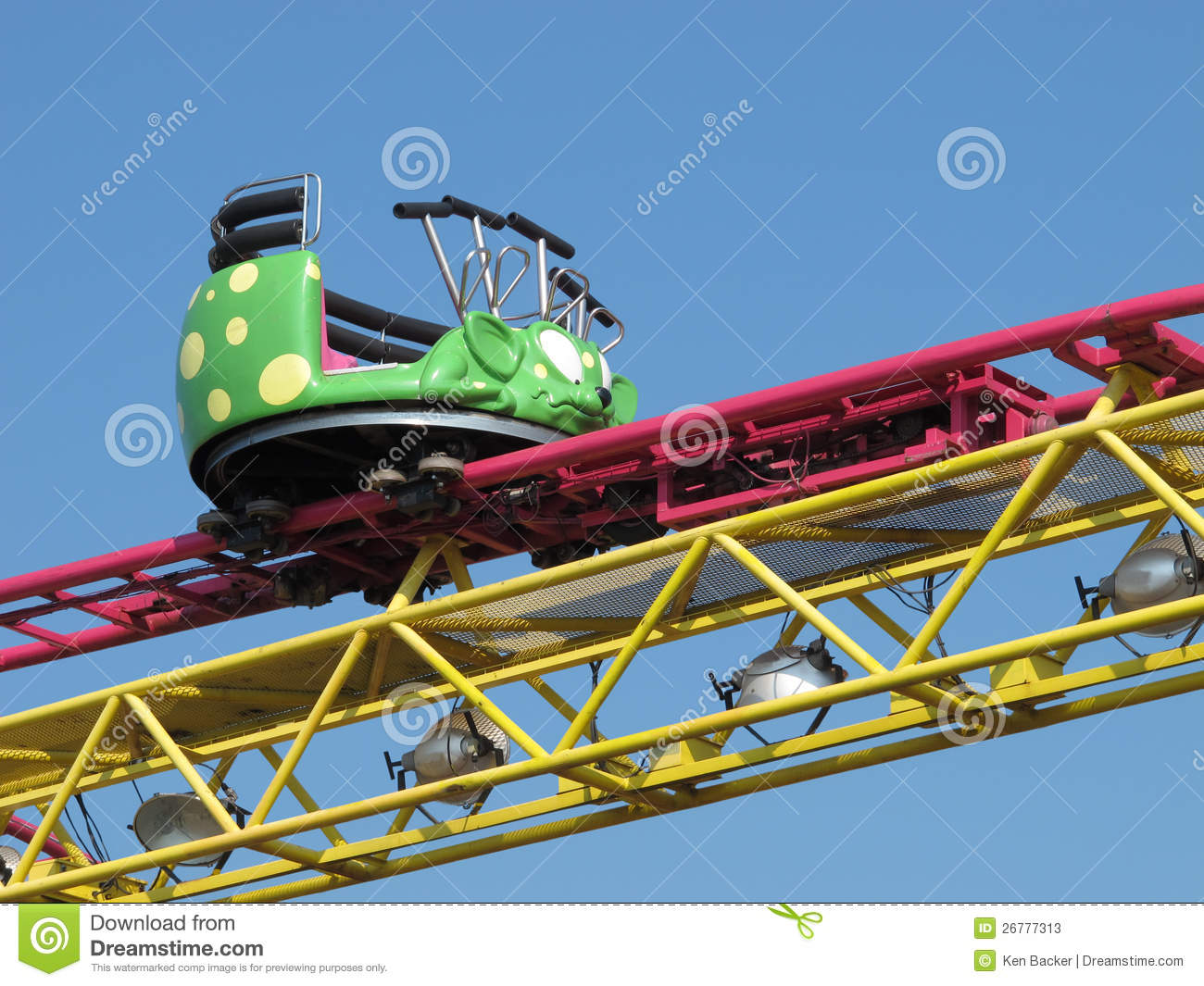 Roller Coaster Car And Track Stock Photos - Image: 26777313