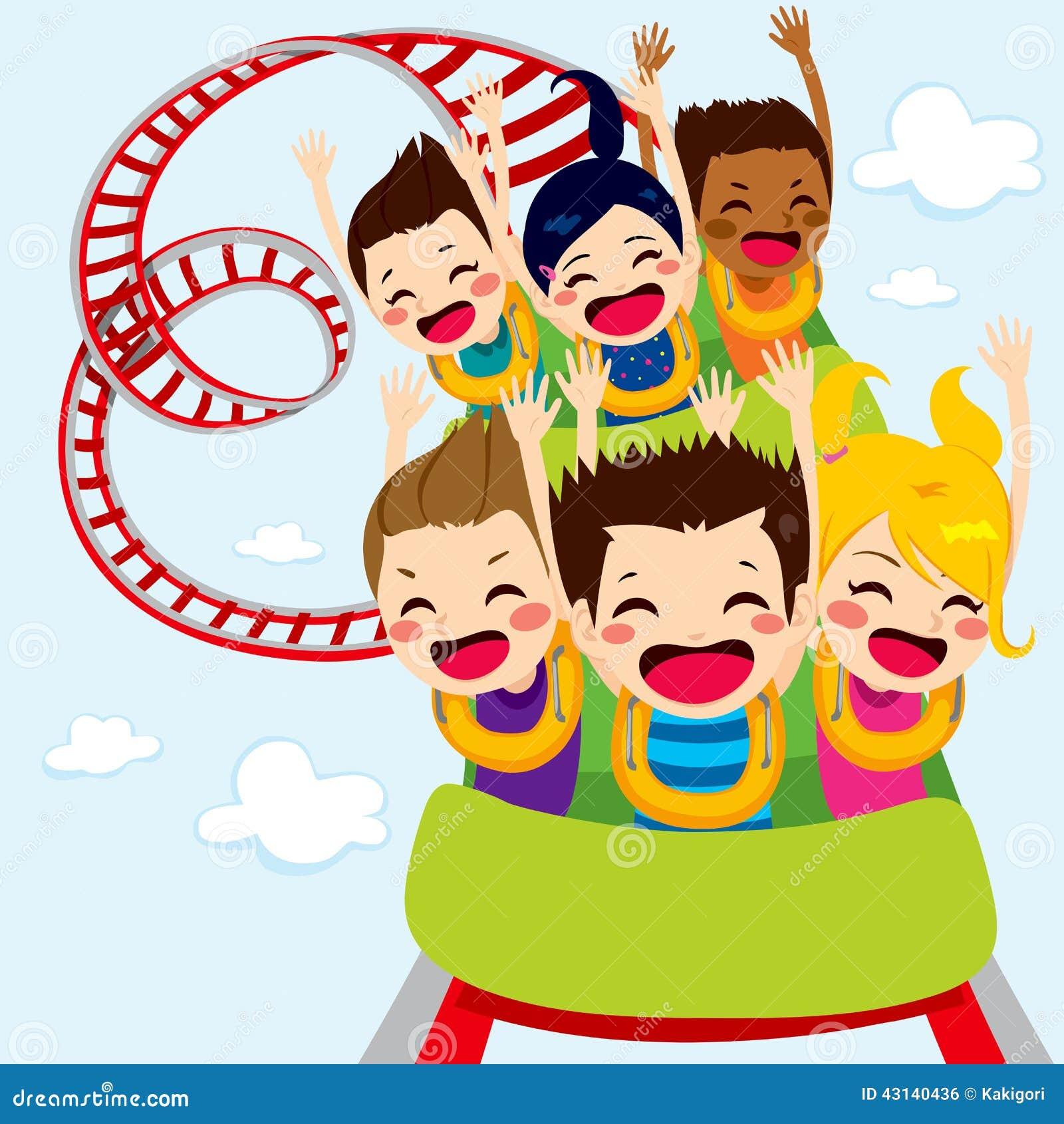 Roller Coaster Children stock vector. Illustration of ...