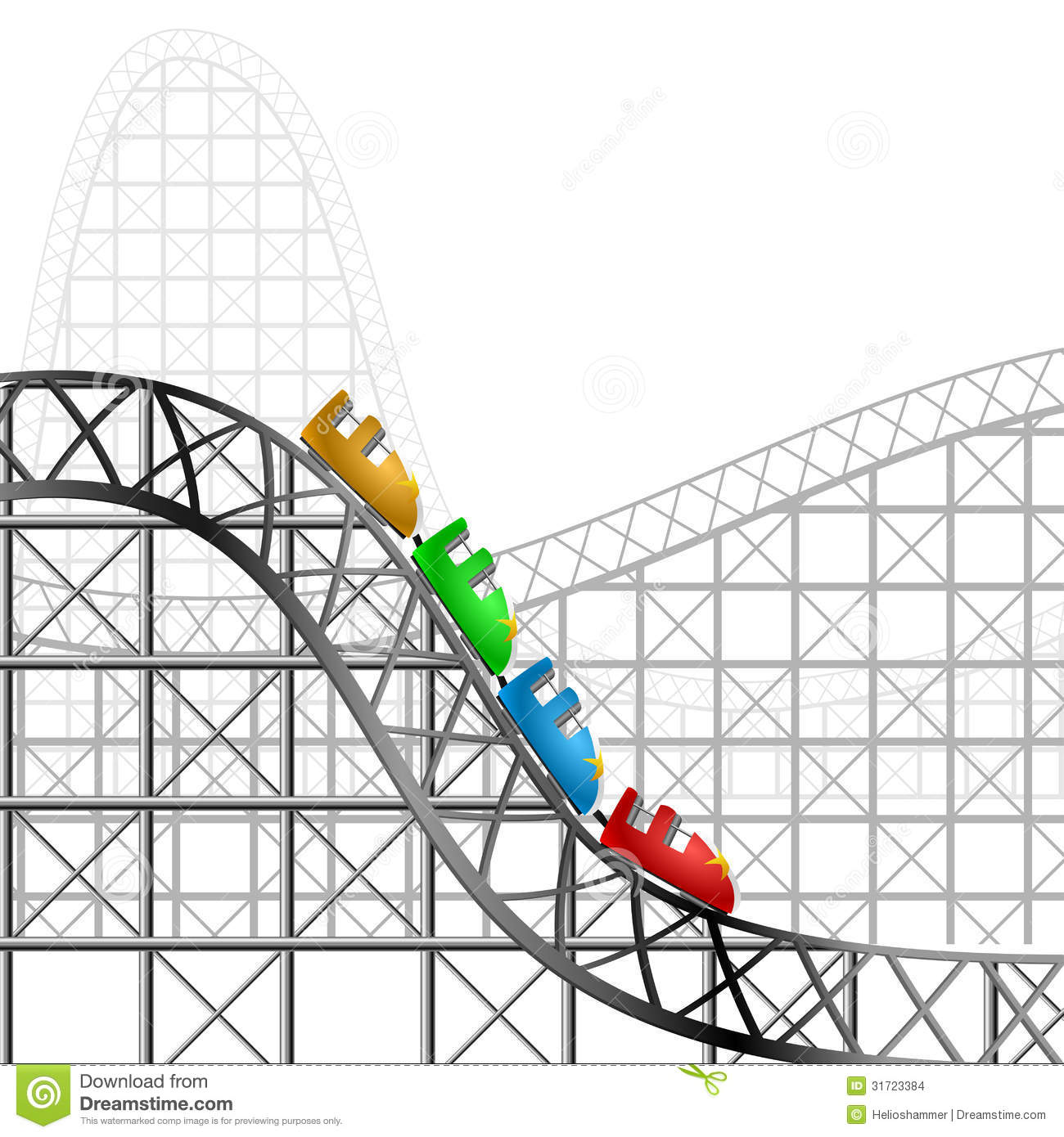 Roller Coaster Stock Images Image 31723384