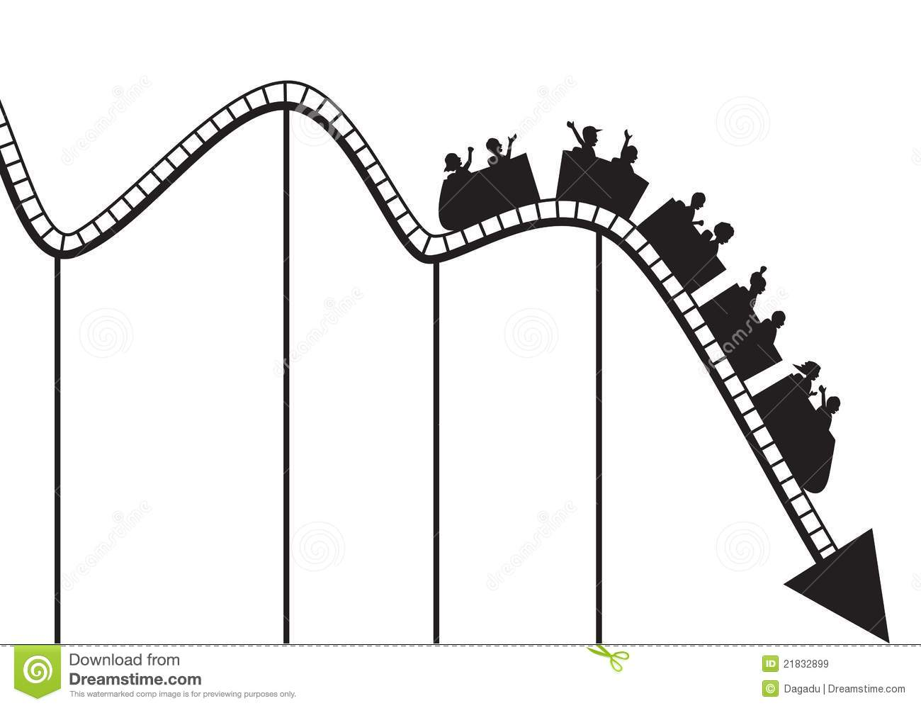 Roller Coaster Graph Stock Vector  Illustration Of