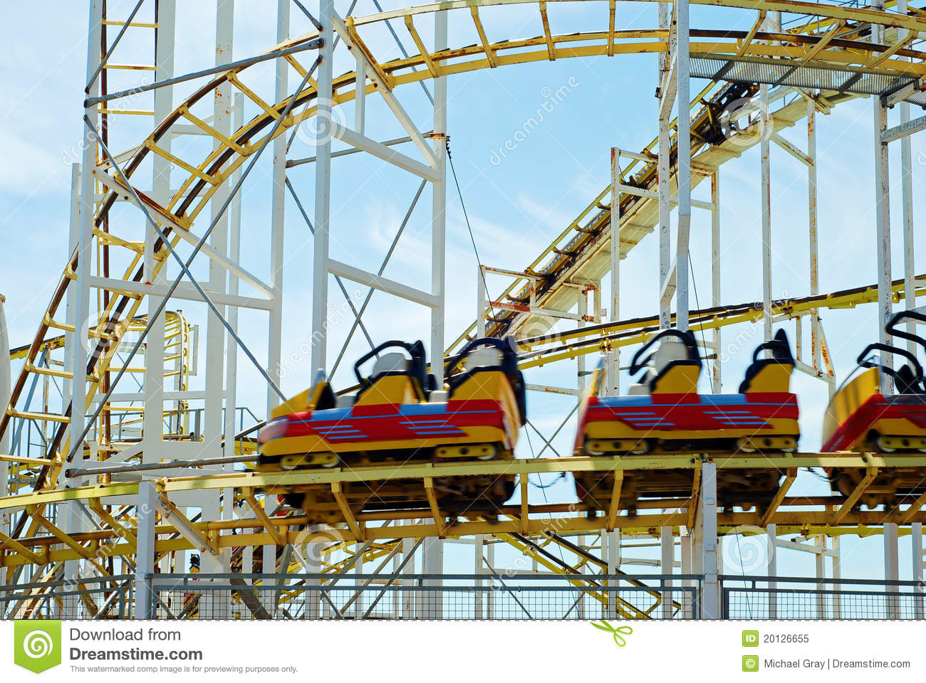 Roller Coaster With Motion Blur Stock Image - Image: 20126655