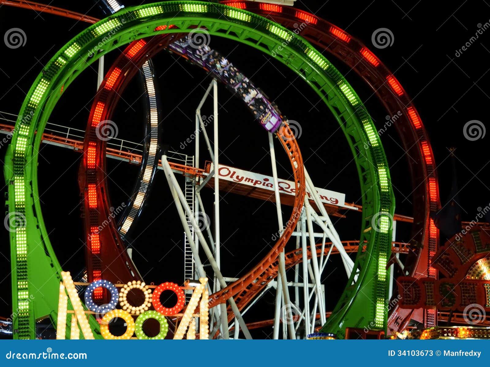 roller coaster at the oktoberfest editorial stock photo image 34103673. Black Bedroom Furniture Sets. Home Design Ideas