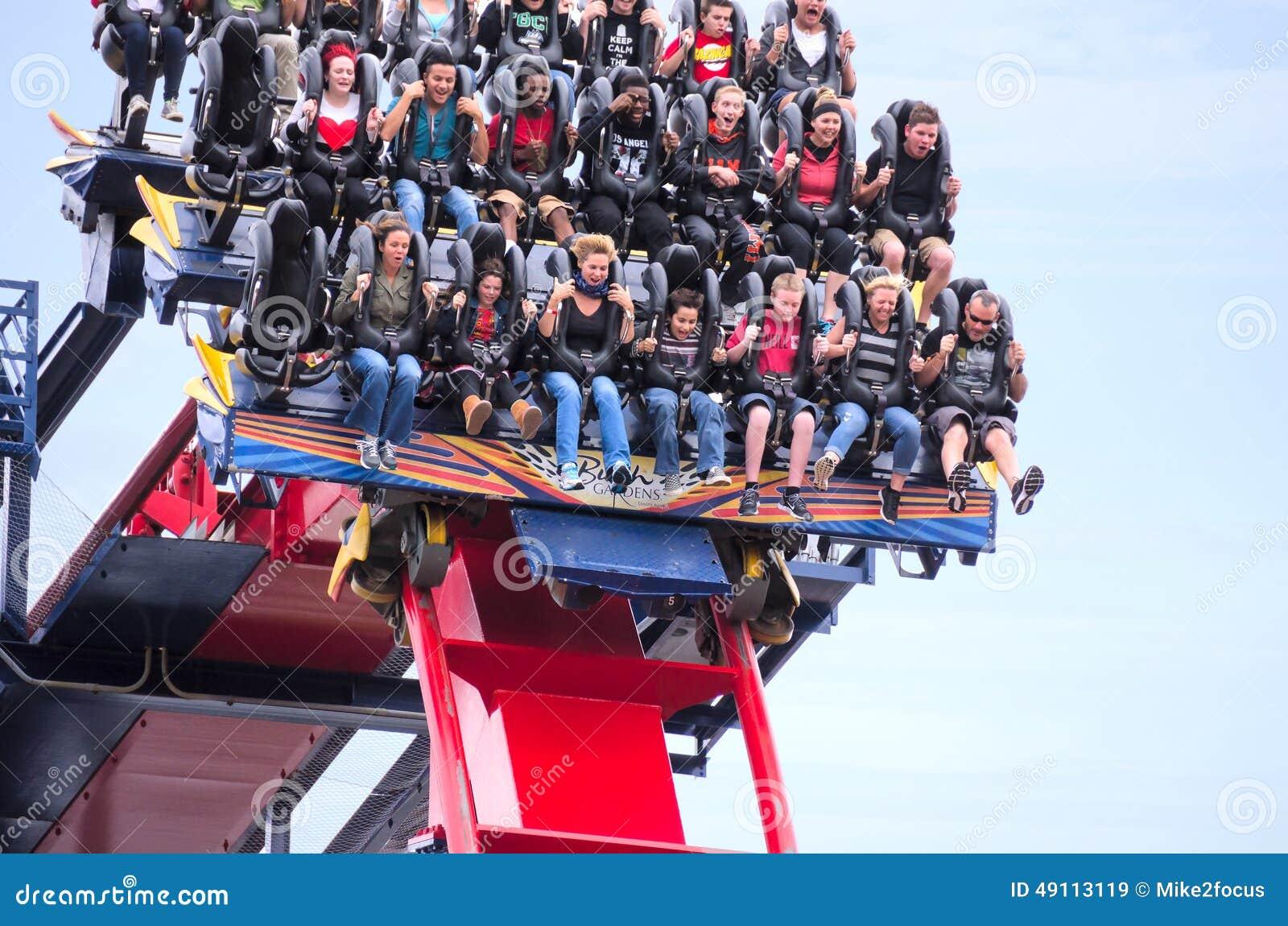 Roller Coaster Ride Busch Gardens Sheikra Closeup Editorial Stock Image Image 49113119