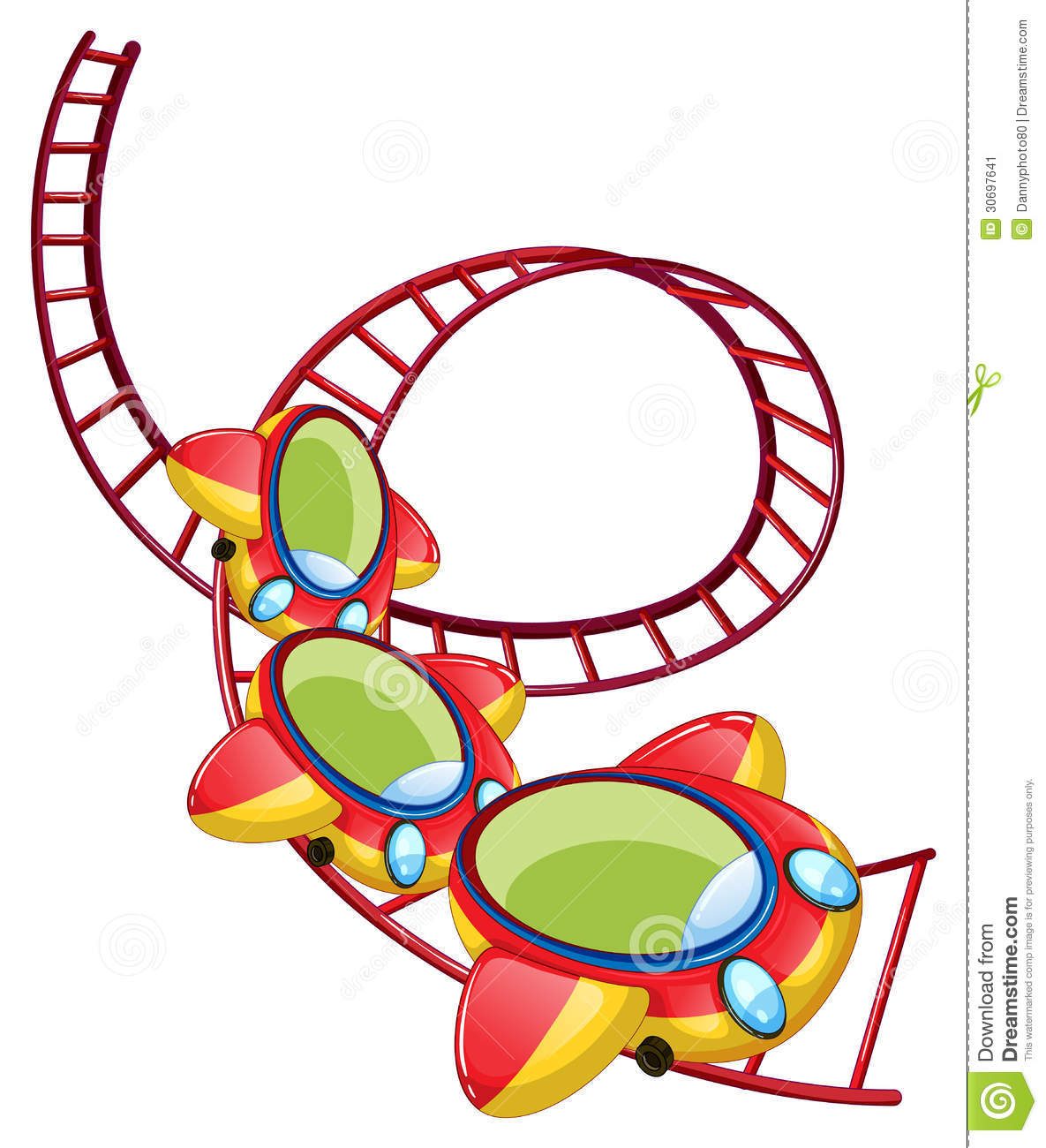 a roller coaster ride stock vector illustration of graphic 30697641 rh dreamstime com roller coaster clipart black and white roller coaster clip art free