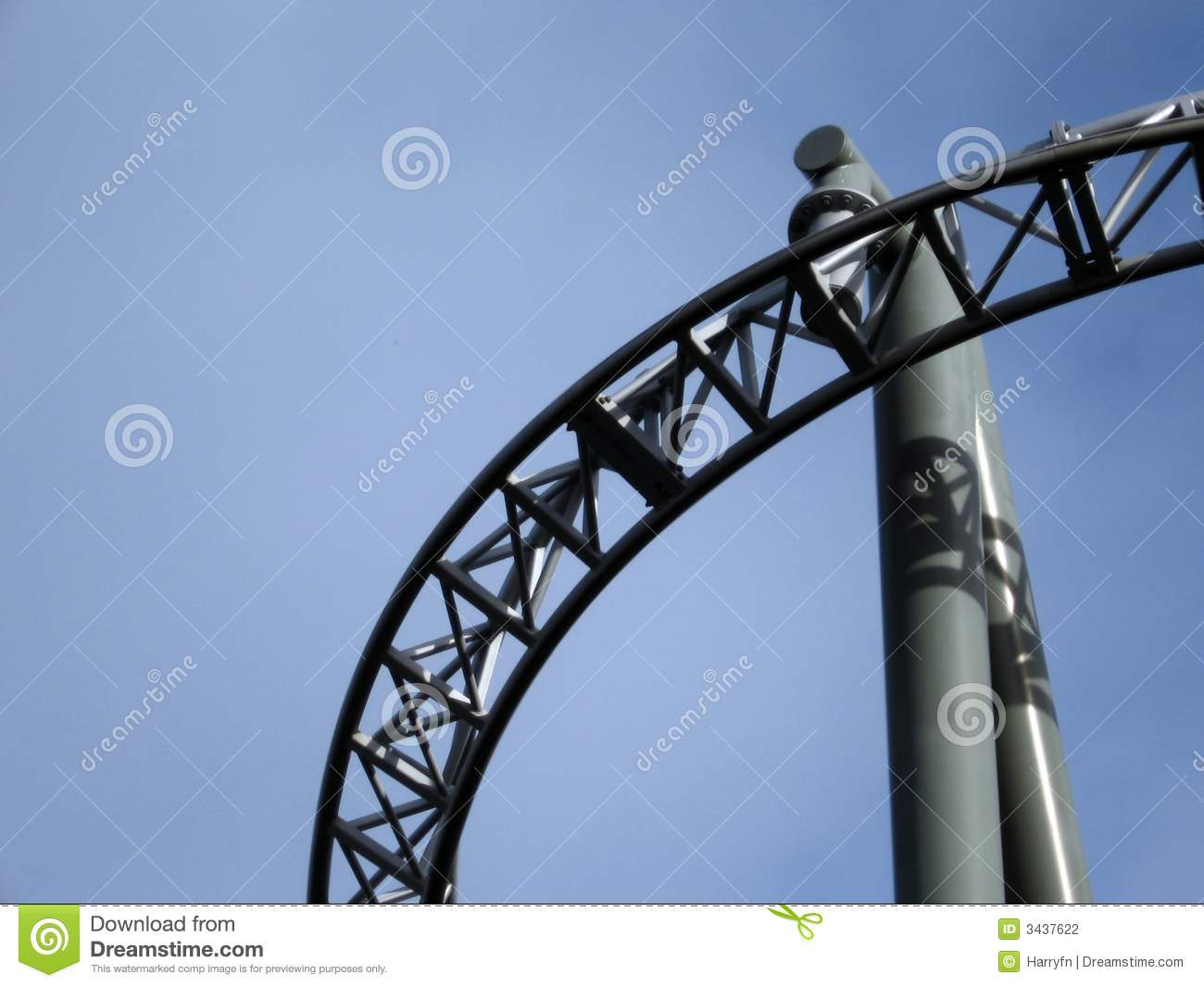Roller coaster structures stock photography image 3437622 for Structure photography