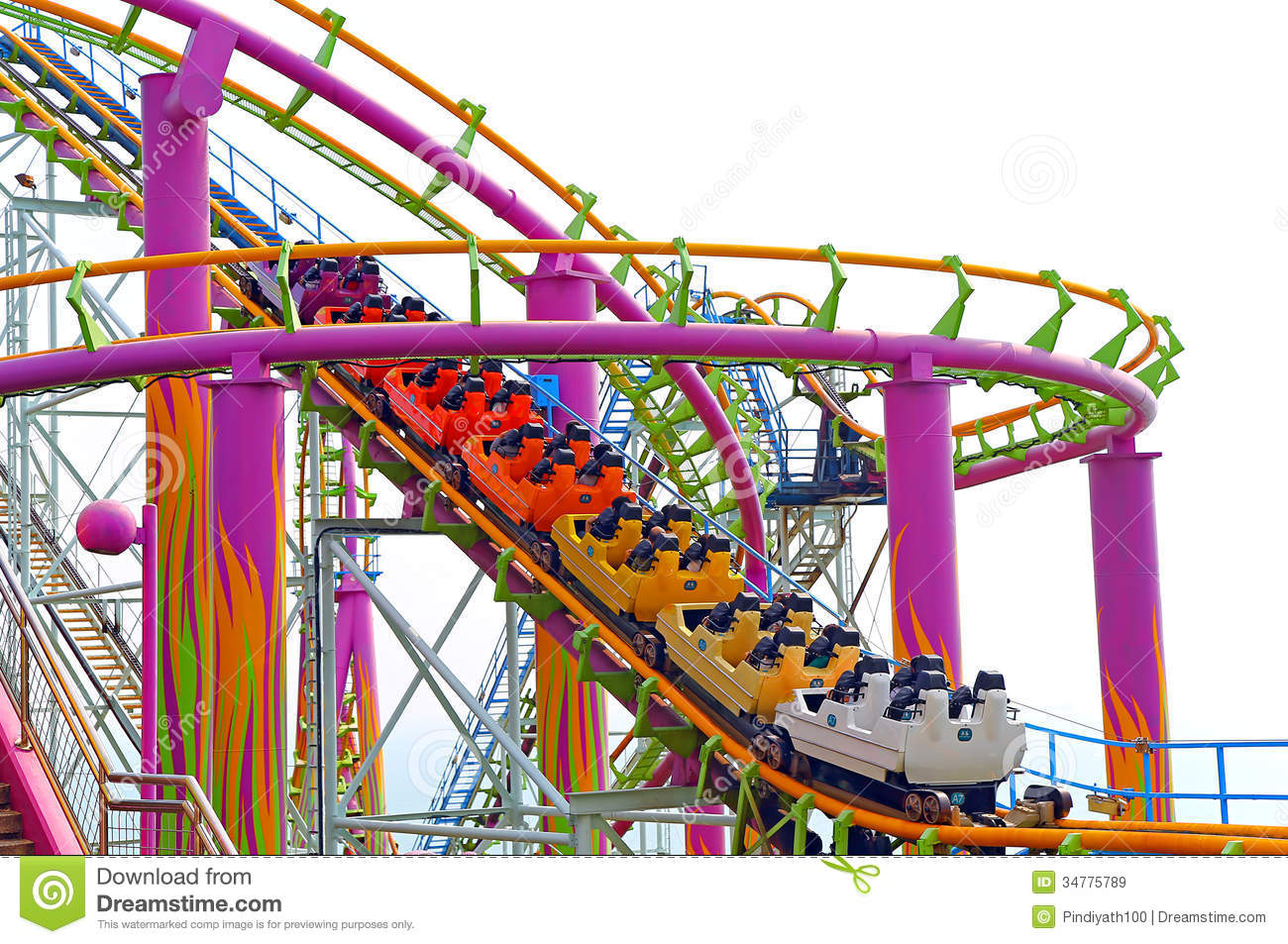 Roller coaster royalty free stock images image 34775789