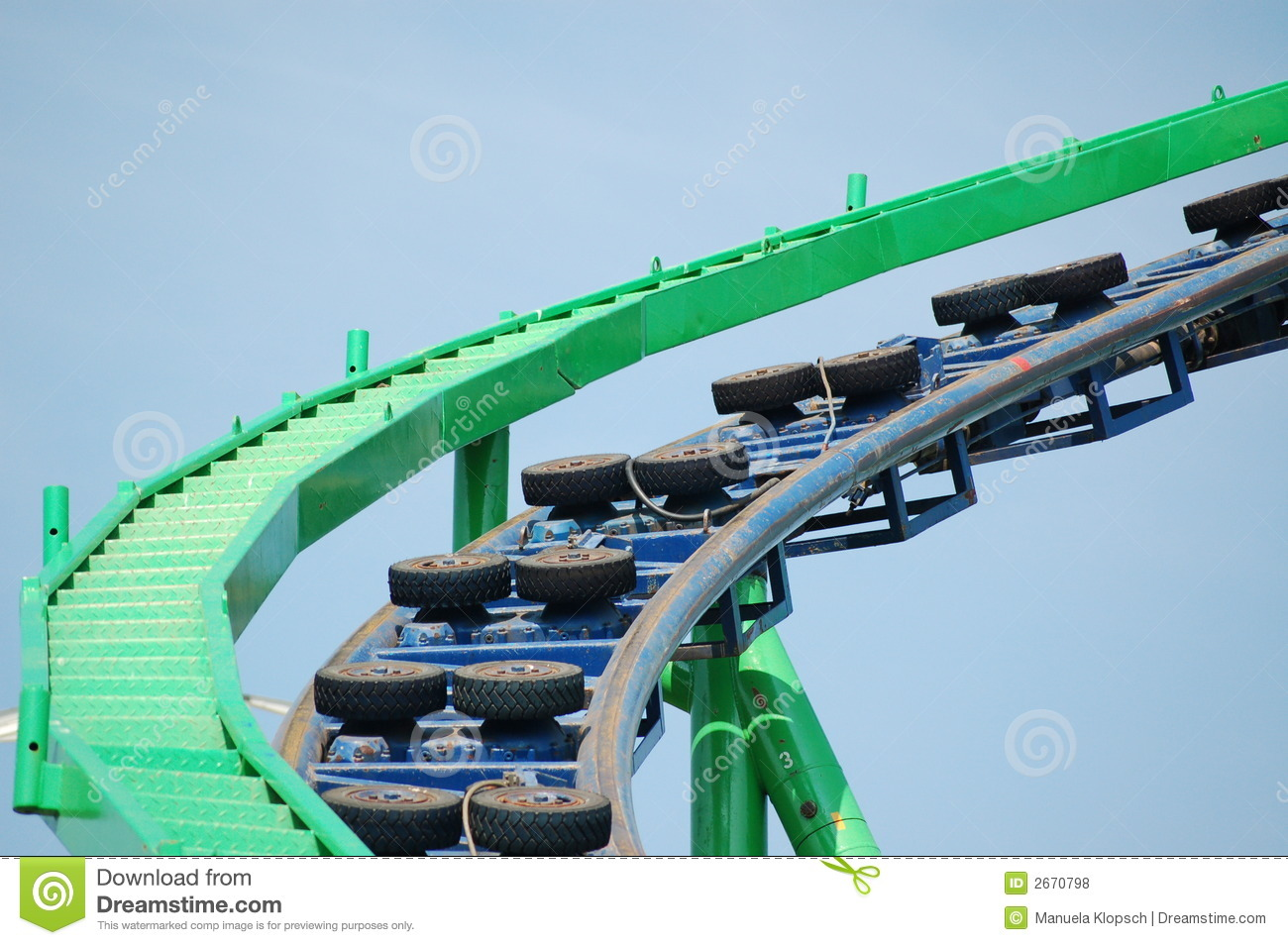 Roller Coaster Track Royalty Free Stock Photos - Image: 2670798