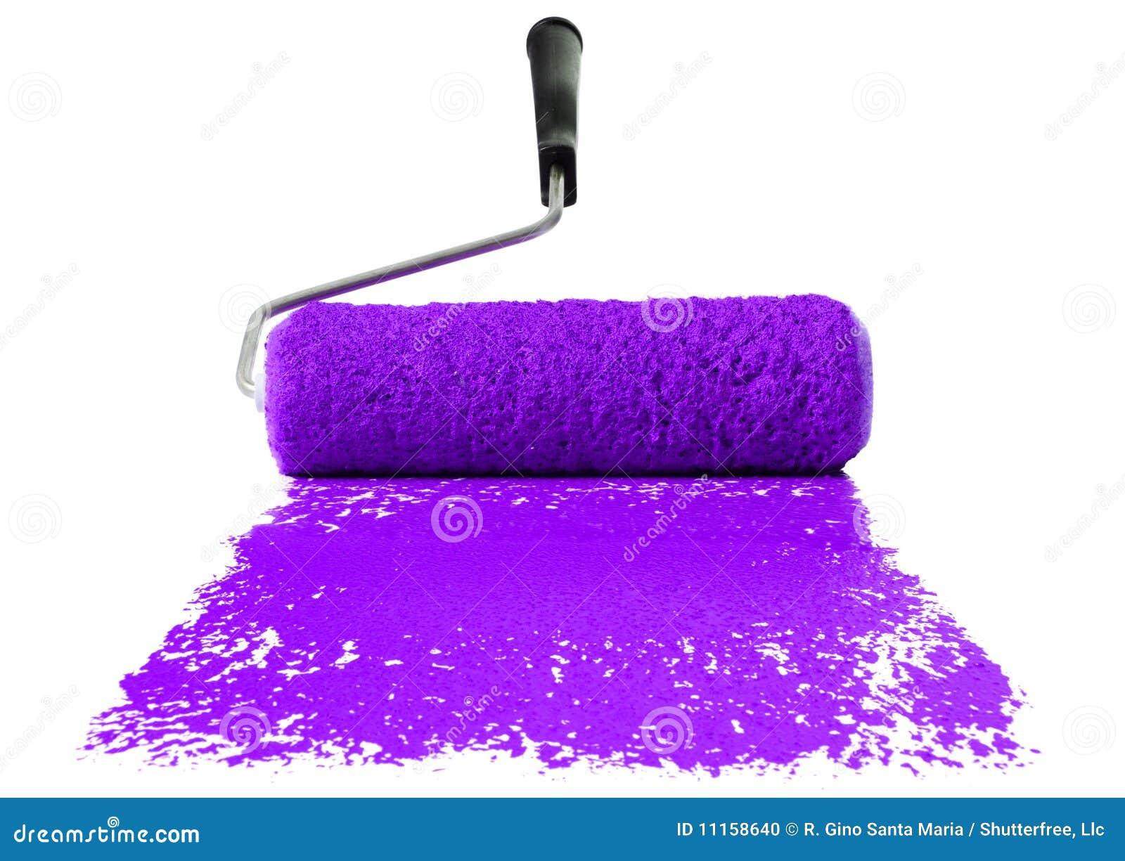 Purple Paint Roller With Purple Paint Stock Photo  Image 11158640