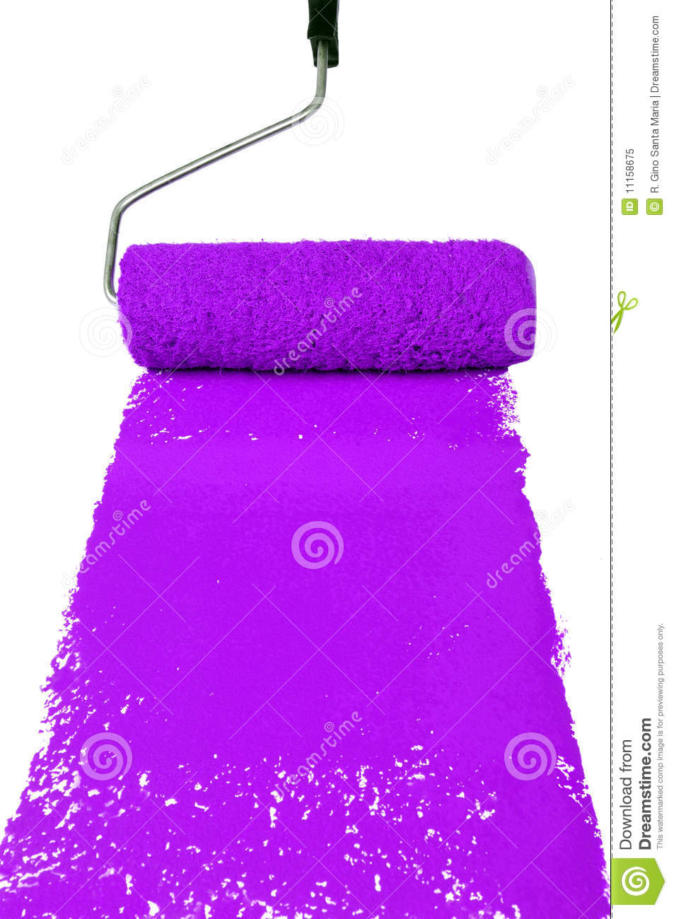 roller with purple paint royalty free stock photo image 11158675. Black Bedroom Furniture Sets. Home Design Ideas