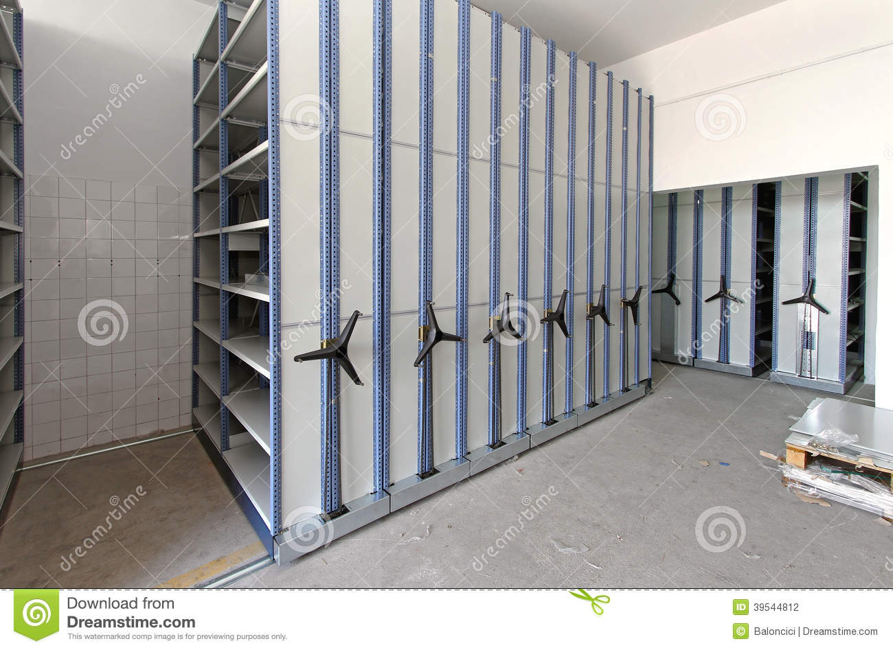 Roller Racking System Stock Photo Image 39544812