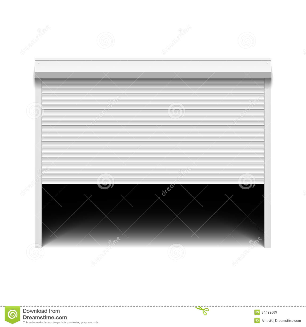 Roller Shutter Garage Door Stock Vector Illustration Of Metallic