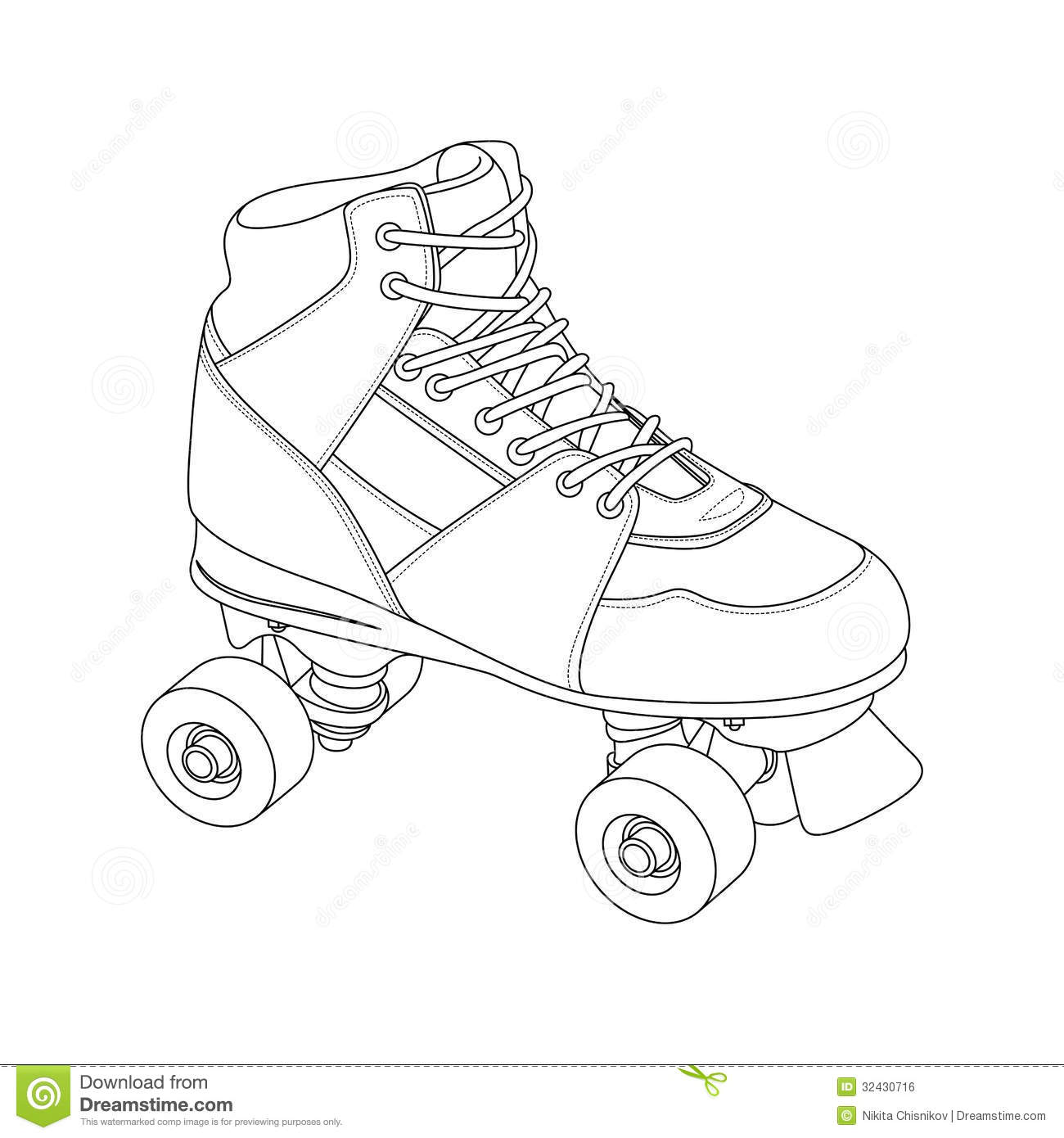 Free roller skating coloring pages -  Holiday Coloring Pages Roller Skate Coloring Page Roller Skate Royalty Free Stock Image Image