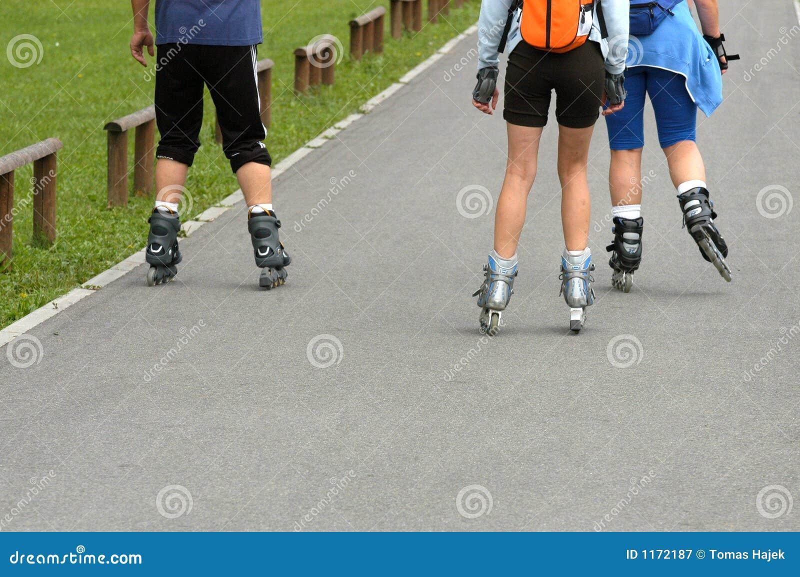 Roller skates for free - Roller Skates Royalty Free Stock Photography
