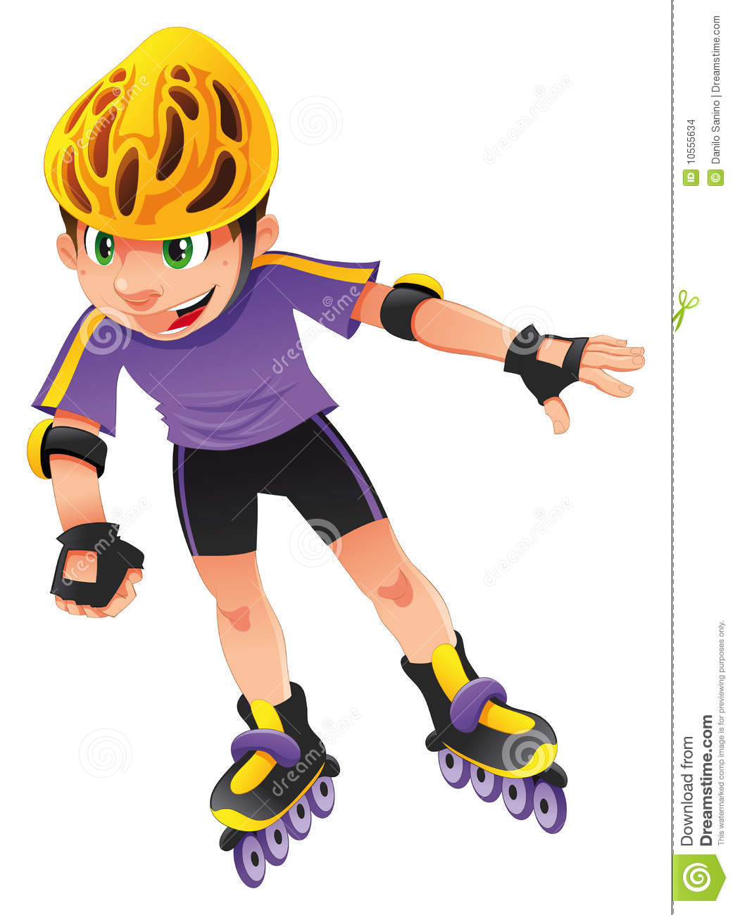 Rollerblade Boy Stock Images - Image: 10555634