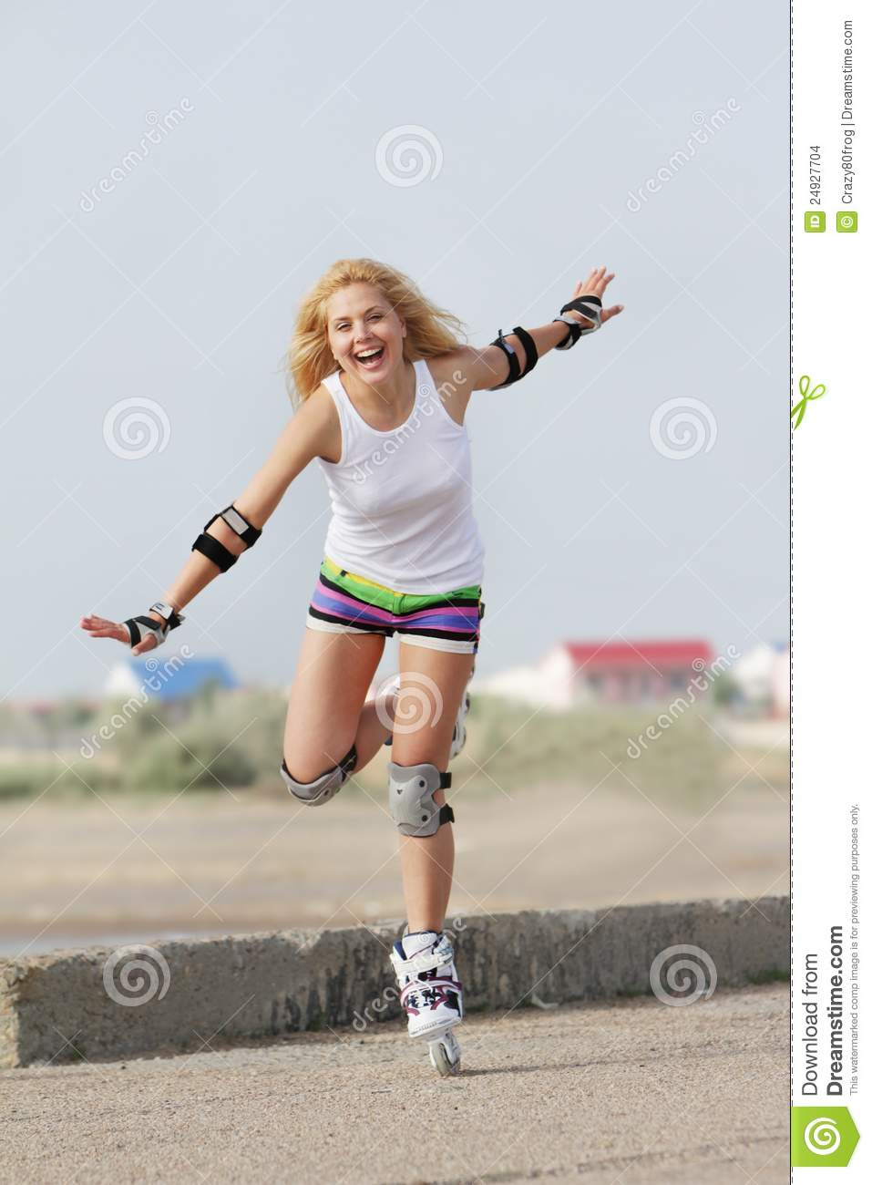 Rollerblade / Roller Skating Woman Stock Images - Image ...