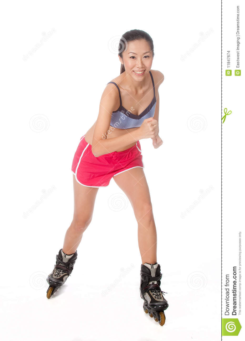 Rollerblading Woman stock photo. Image of people ...