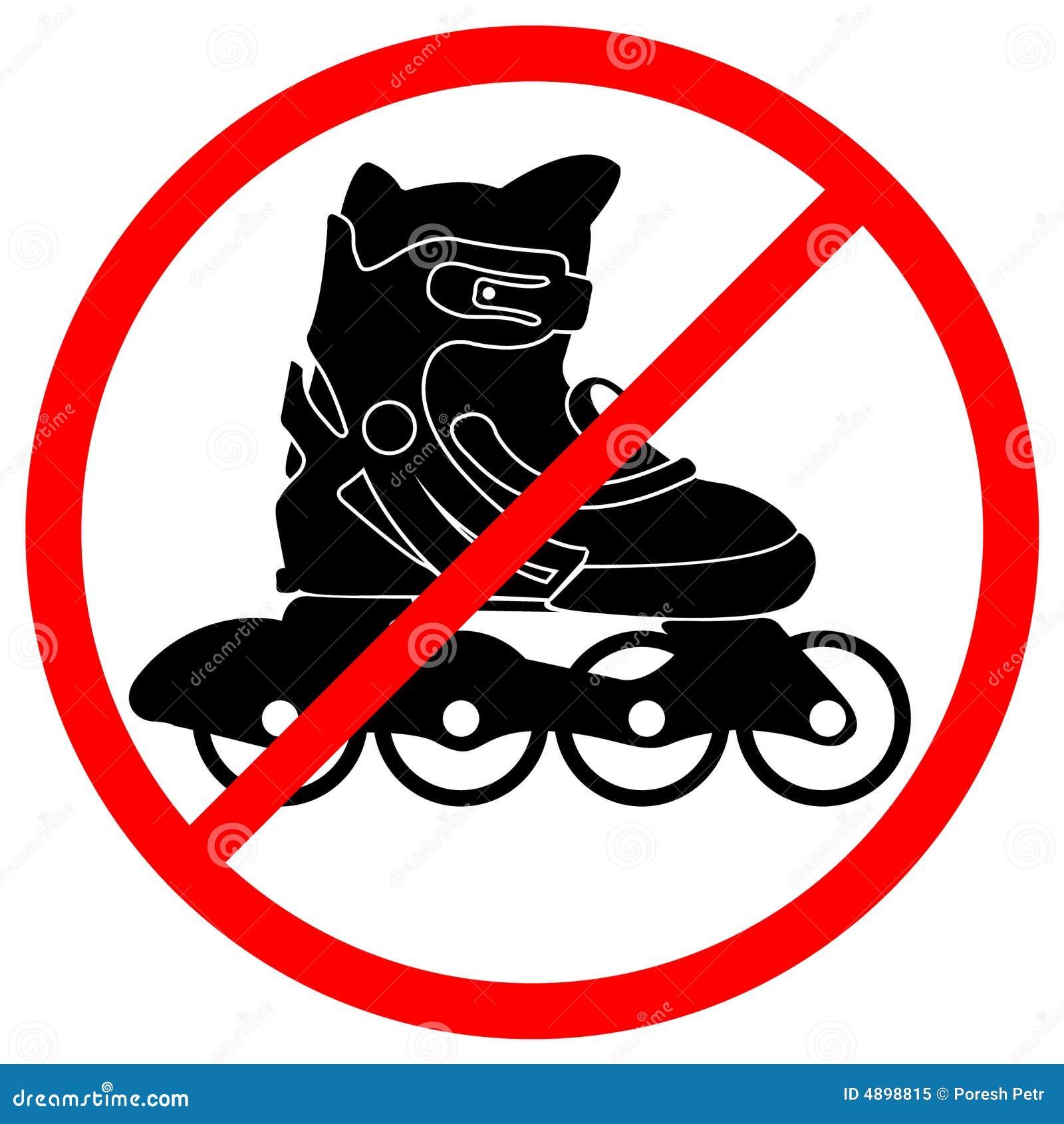 Rollerskate verboden teken