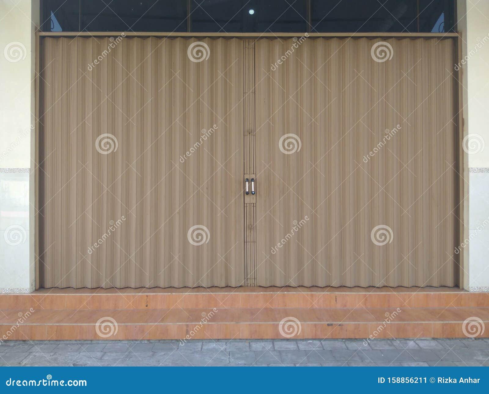 Rolling Door Folding Gate For Garage Stock Image Image Of Garage Consisting 158856211