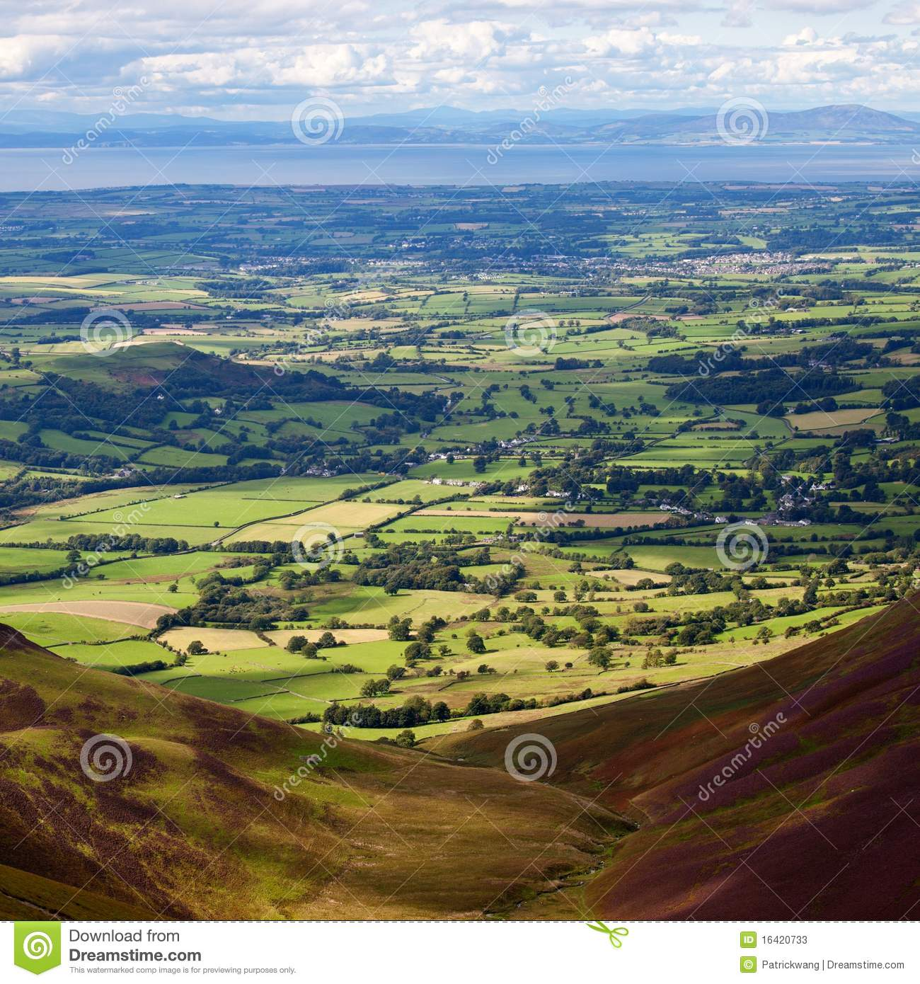 Rolling Hills In Lake District England Stock Photos