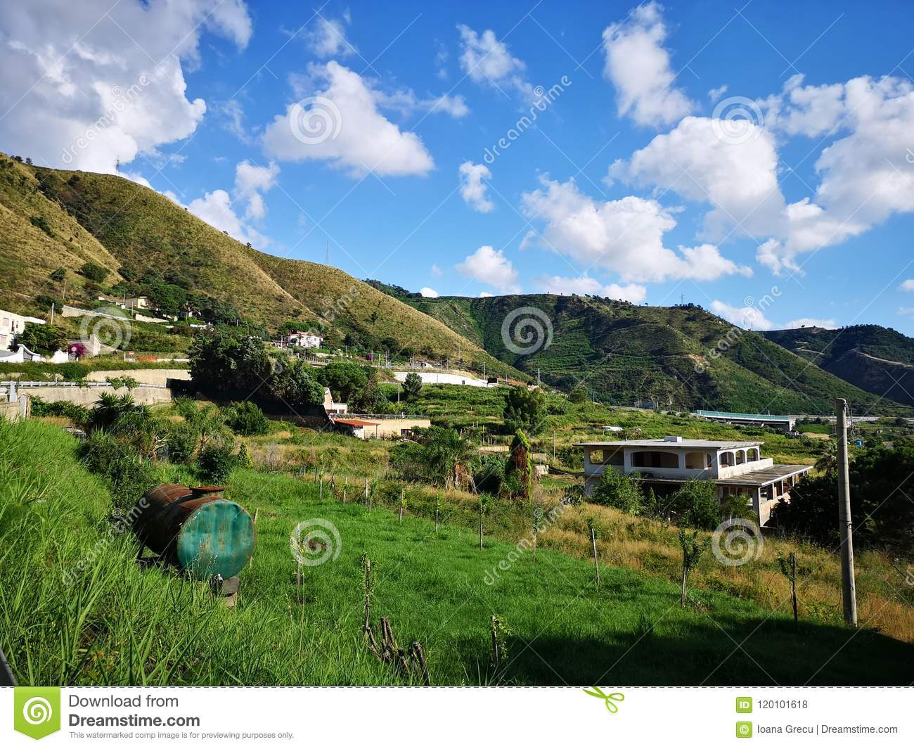 Hills in the south of Italy, Calabria