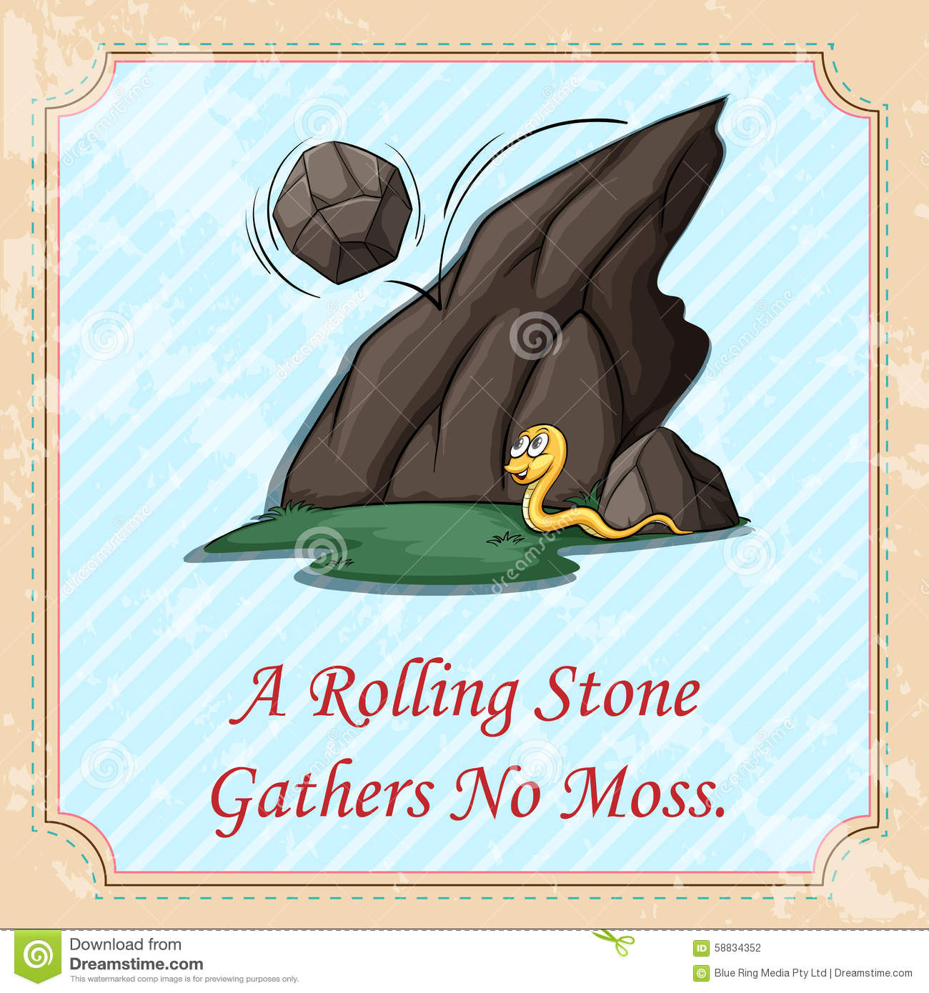 rolling stones gathers no moss essay A person who likes to move often or is unwilling to settle down in one place or with one person or both this phrase is based on the old saying a rolling stone gathers no moss papa was a rolling stone, my son.