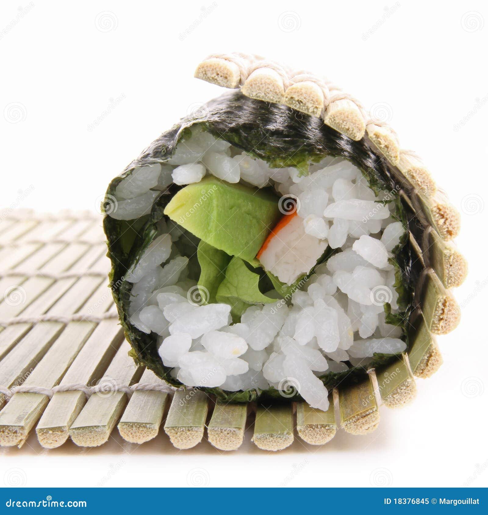 Rolling sushi maki