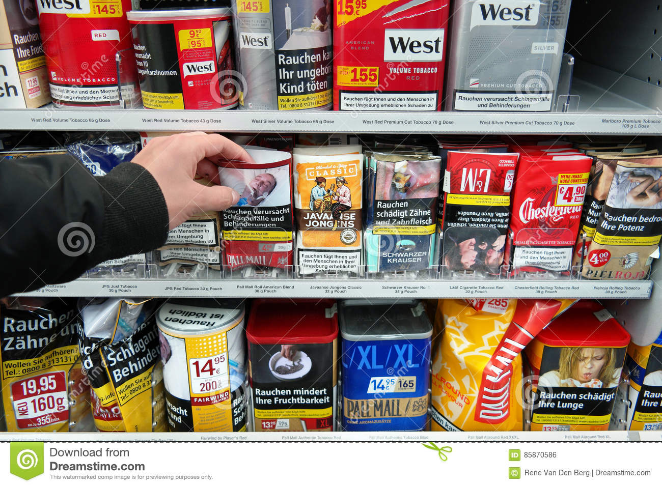 Rolling Tobacco In Store Editorial Photo Image Of Harmful
