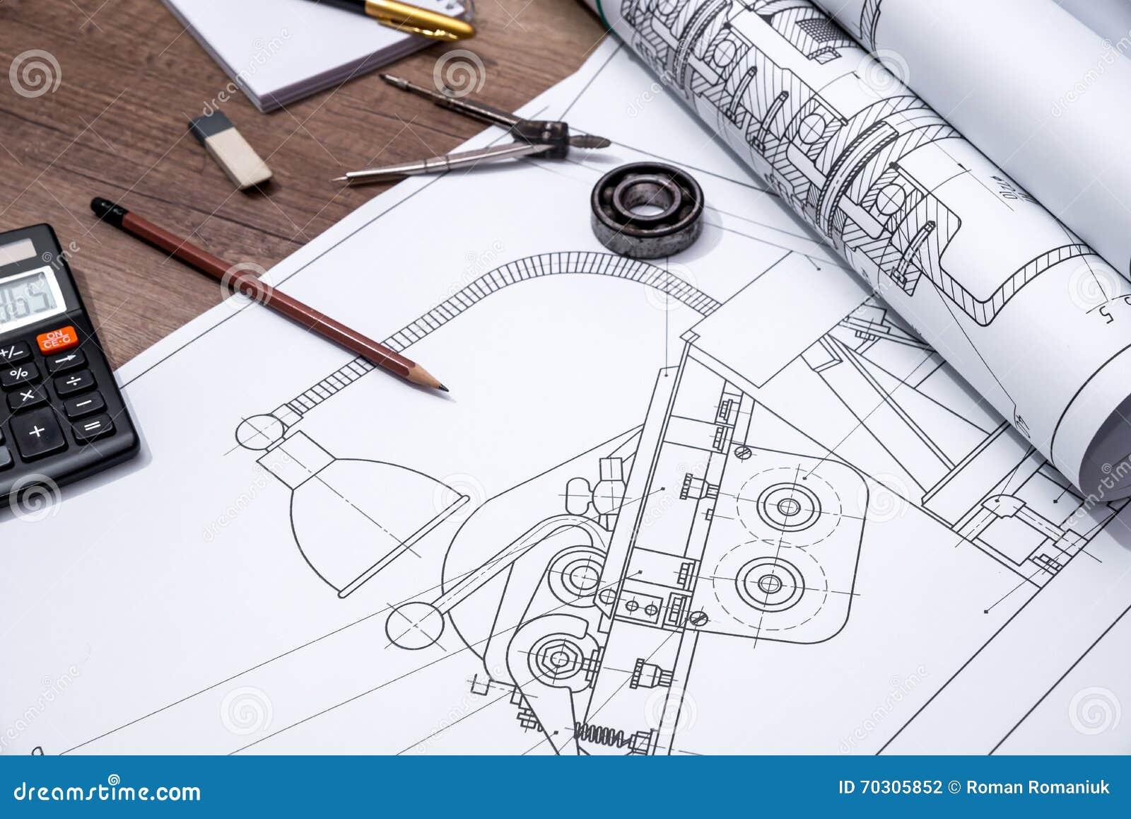 Rollo de los planes del dibujo