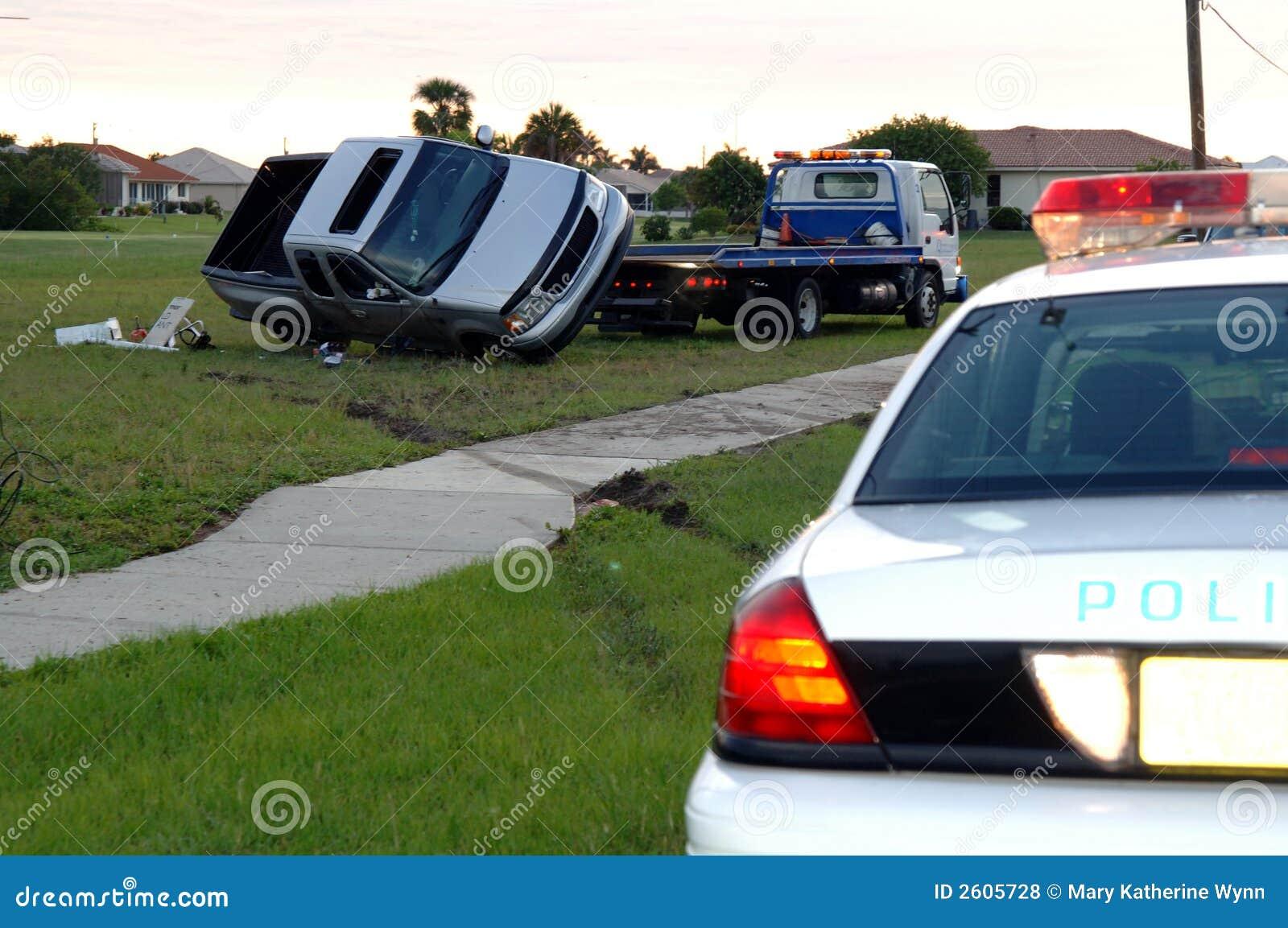 Rollover wypadek samochodowy