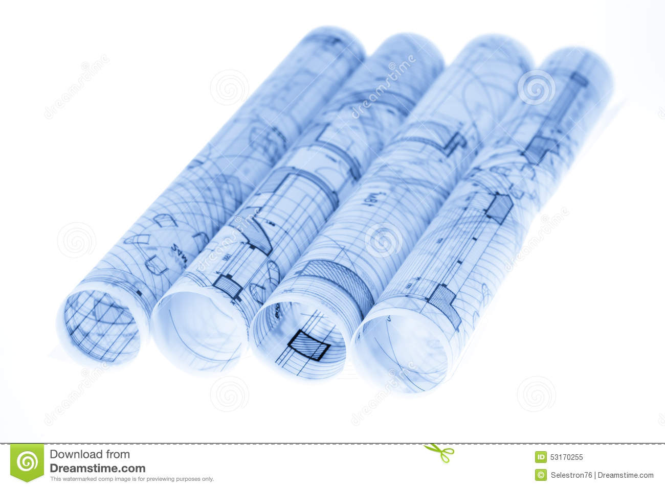 Rolls of architecture blueprints and house plans stock image image rolls of architecture blueprints house plans royalty free stock photo malvernweather Gallery