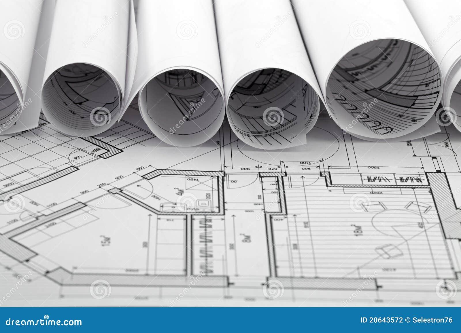 Rolls of blueprint house plane stock photo image of drawing rolls of blueprint house plane malvernweather Choice Image