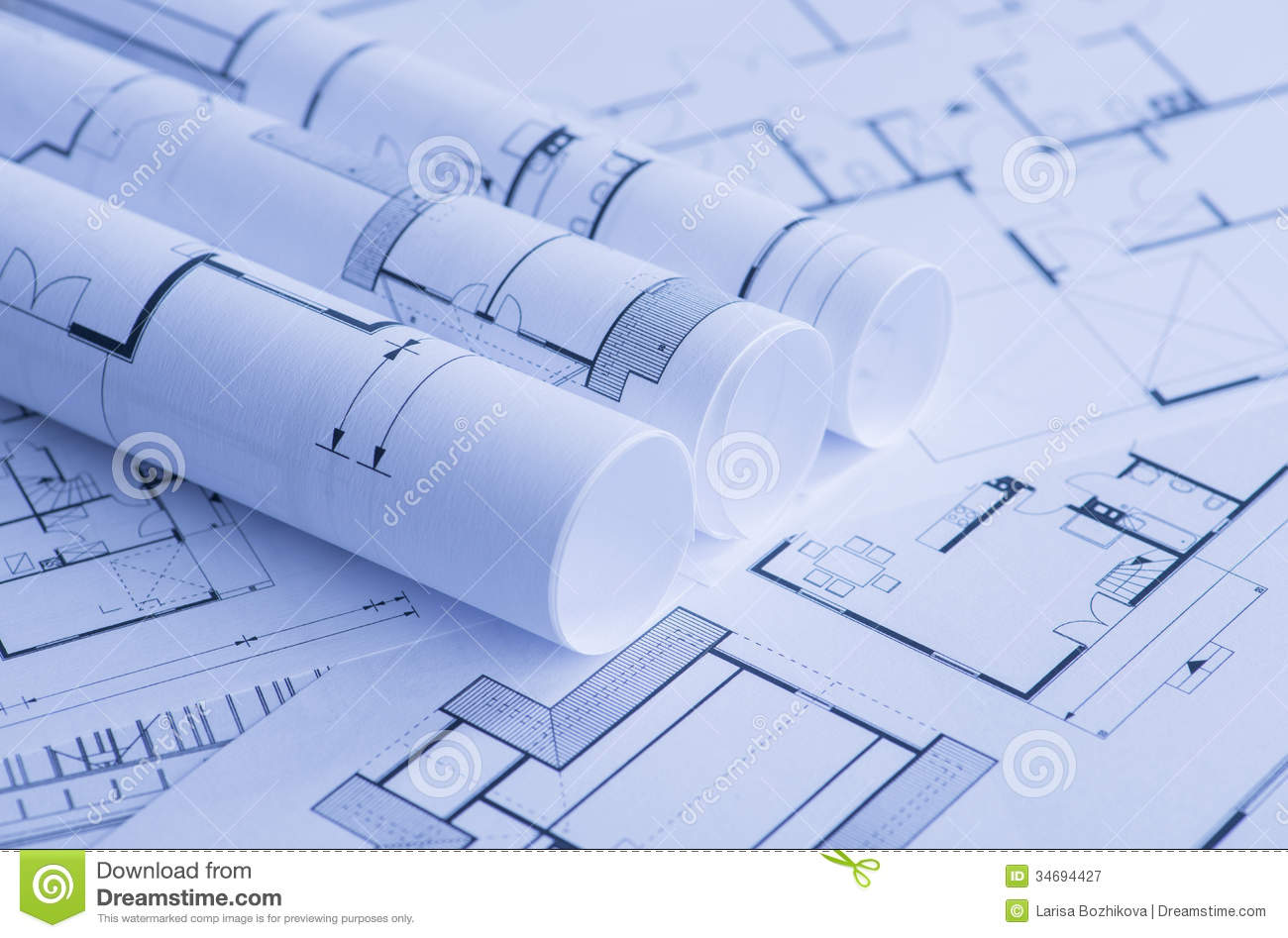 Rolls of blueprints stock image image of place focus 34694427 rolls of blueprints malvernweather Gallery