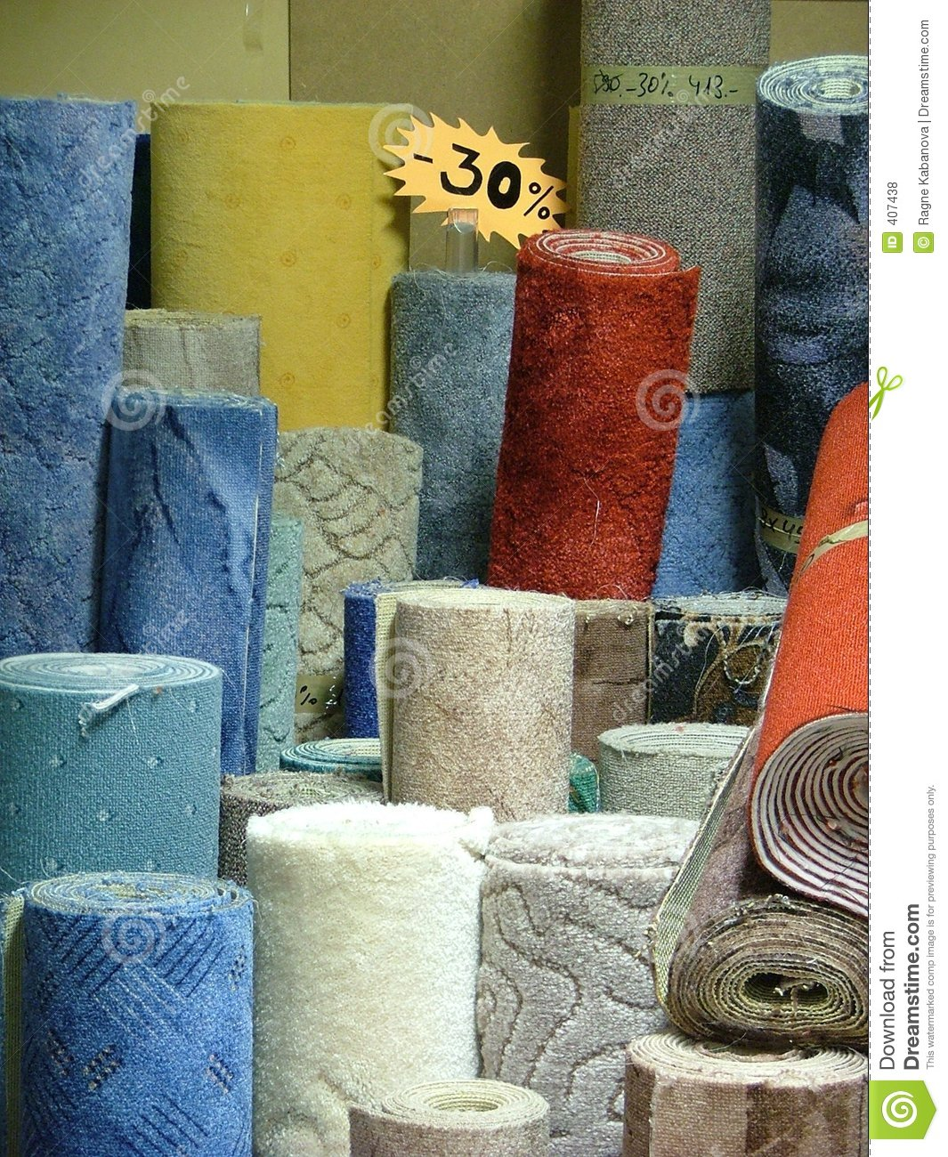 Rolls Of Carpets Royalty Free Stock Photos Image 407438