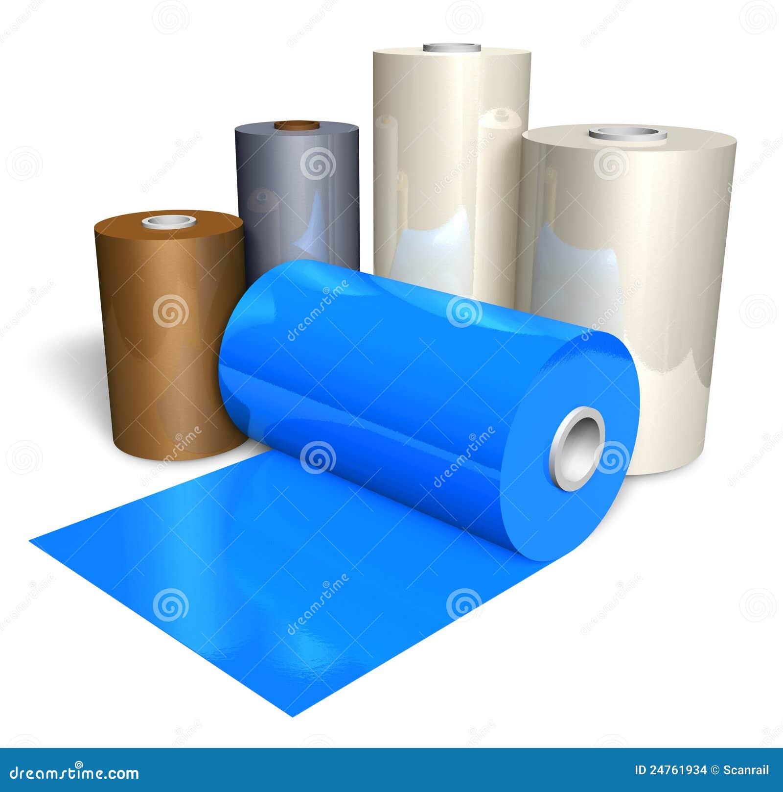 Rolls Of Color Plastic Tape Stock Illustration - Illustration of ...