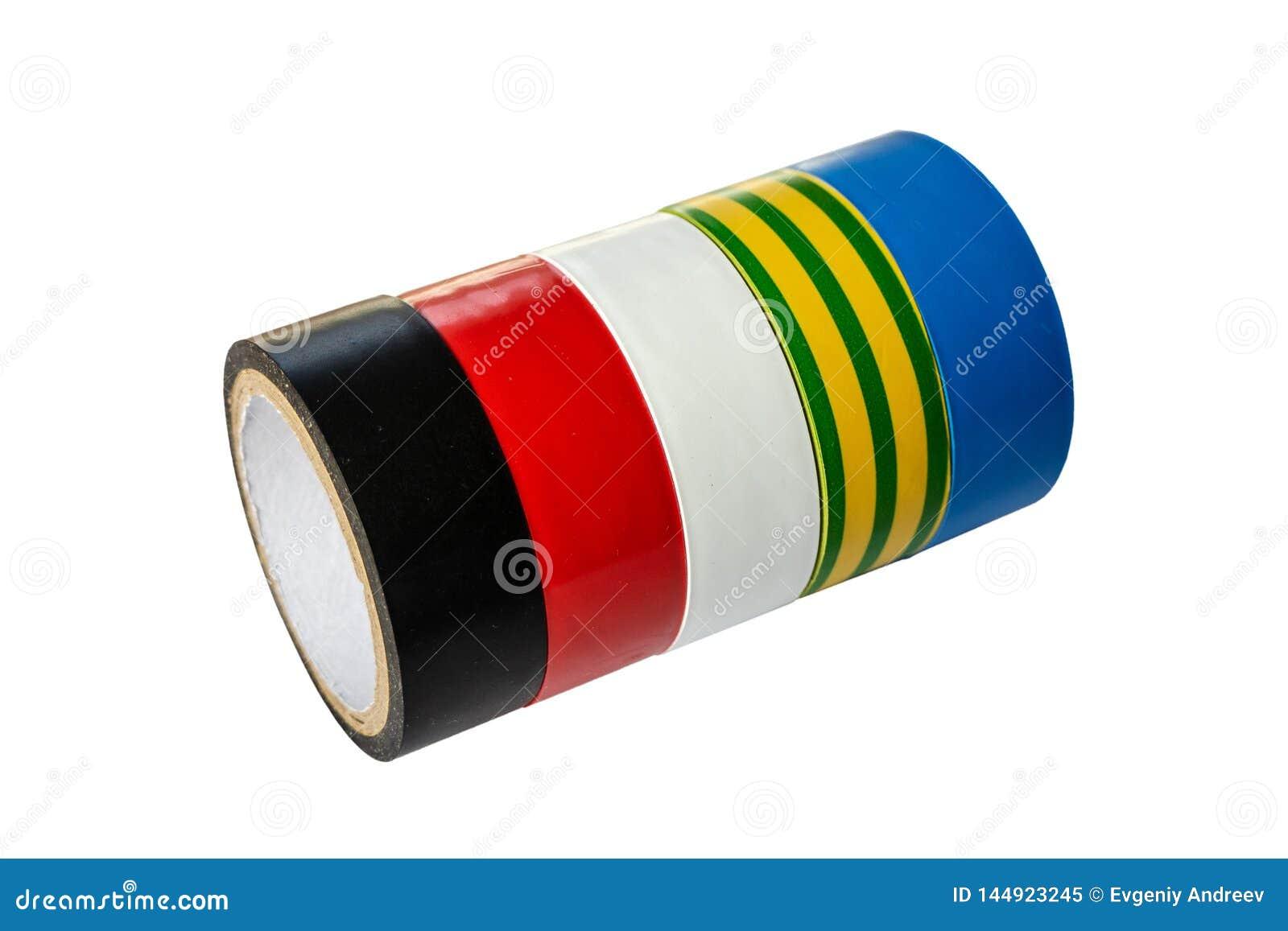 Rolls de una cinta multicolora