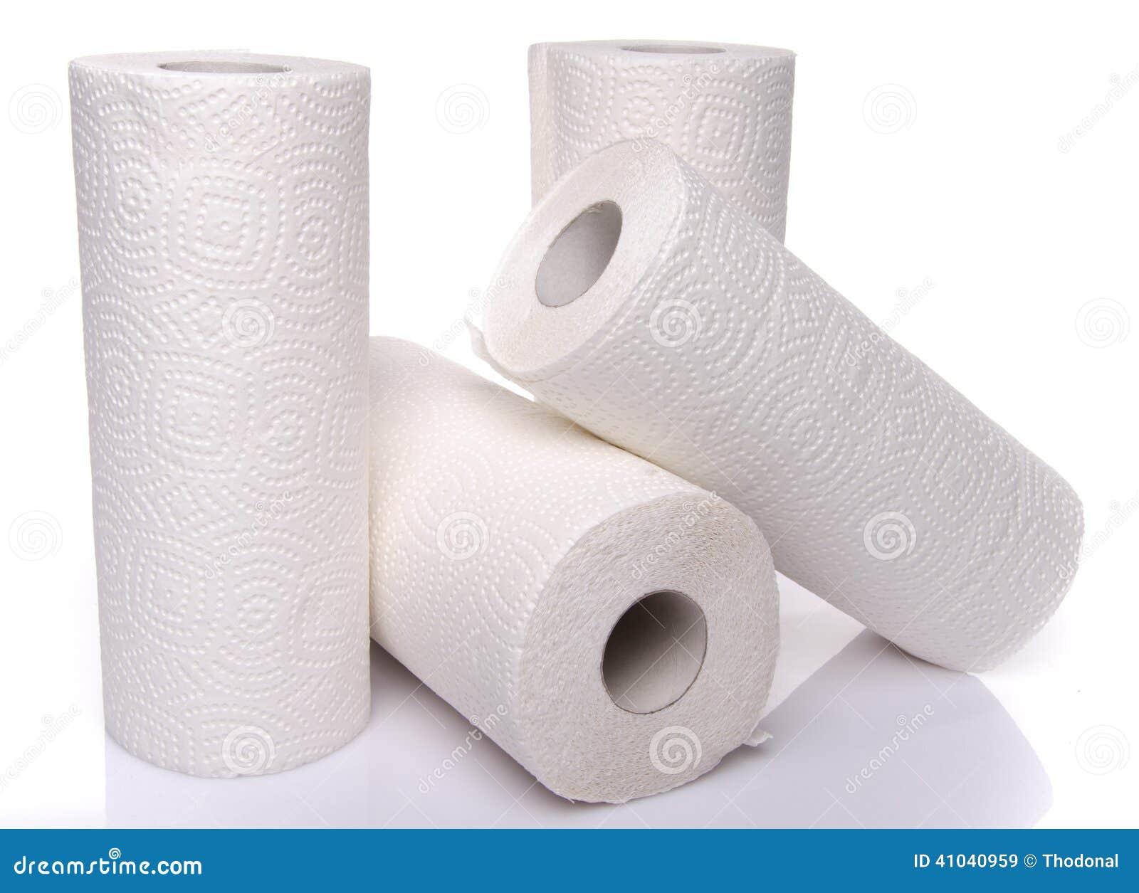 Rolls des serviettes de papier
