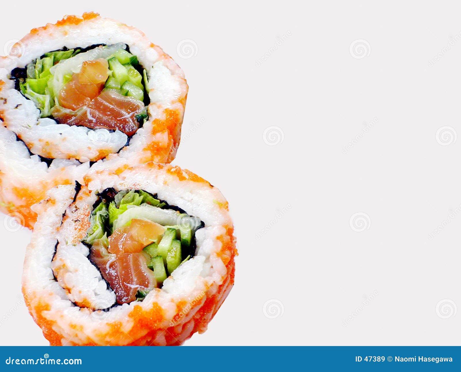 Rolls des sushi