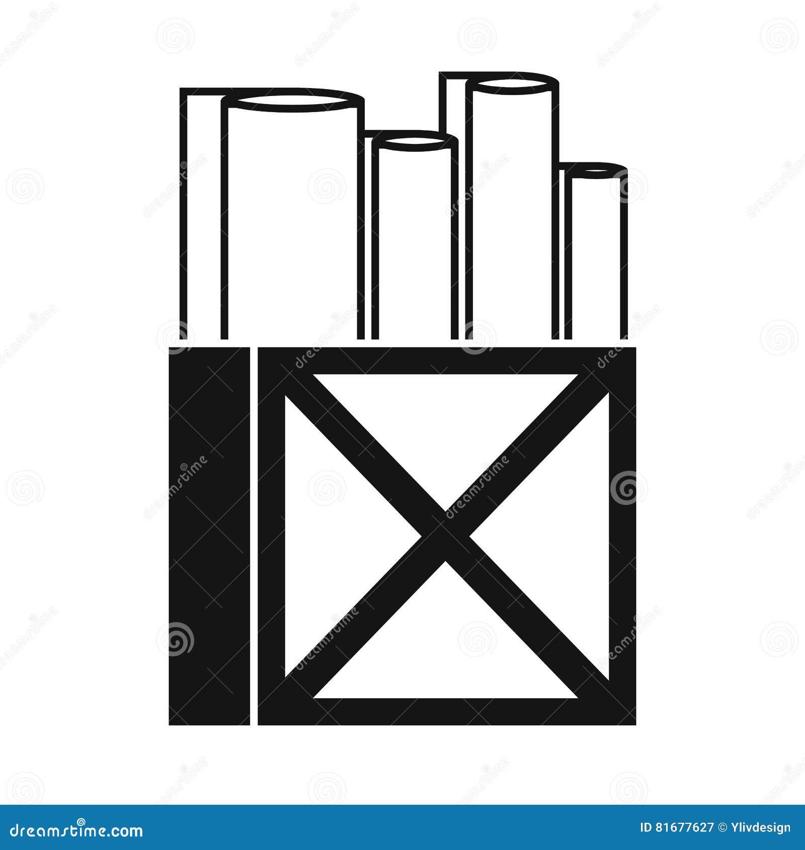 Rolls Du Livre Blanc Dans Une Icone De Boite En Bois