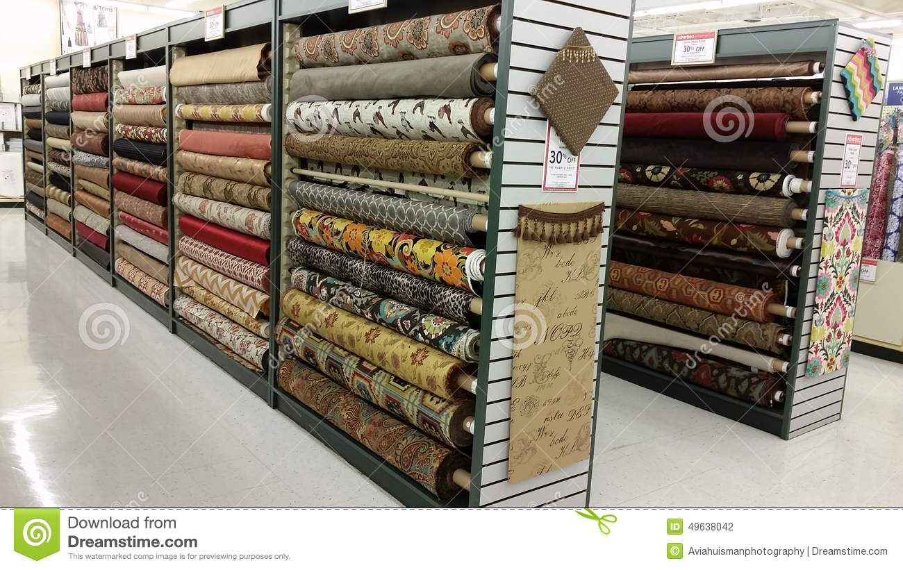 Rolls Of Fabric Editorial Photography - Image: 49638042