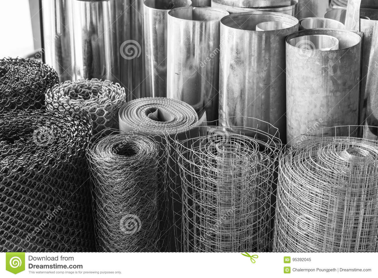 Rolls Of Galvanized Metal Sheets, Steel Chicken Wire Mesh, And P ...