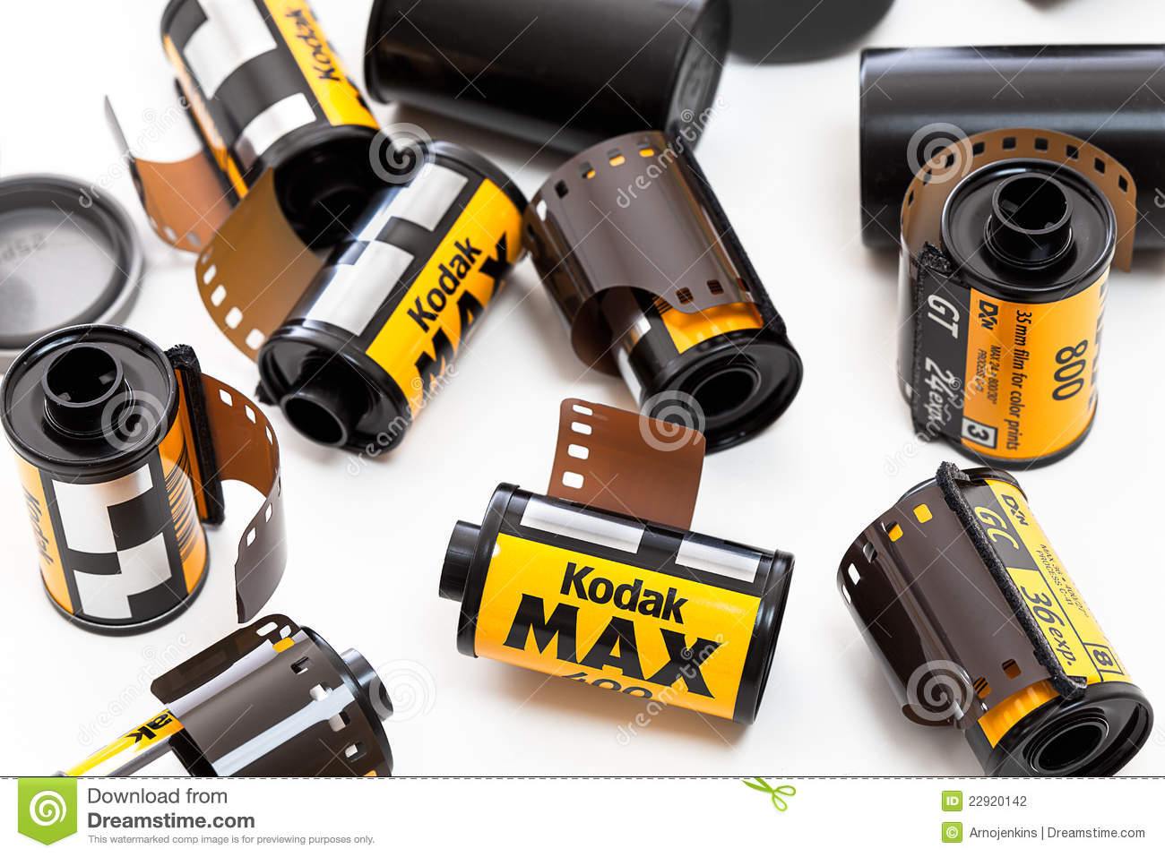rolls of kodak film with a camera editorial photography. Black Bedroom Furniture Sets. Home Design Ideas