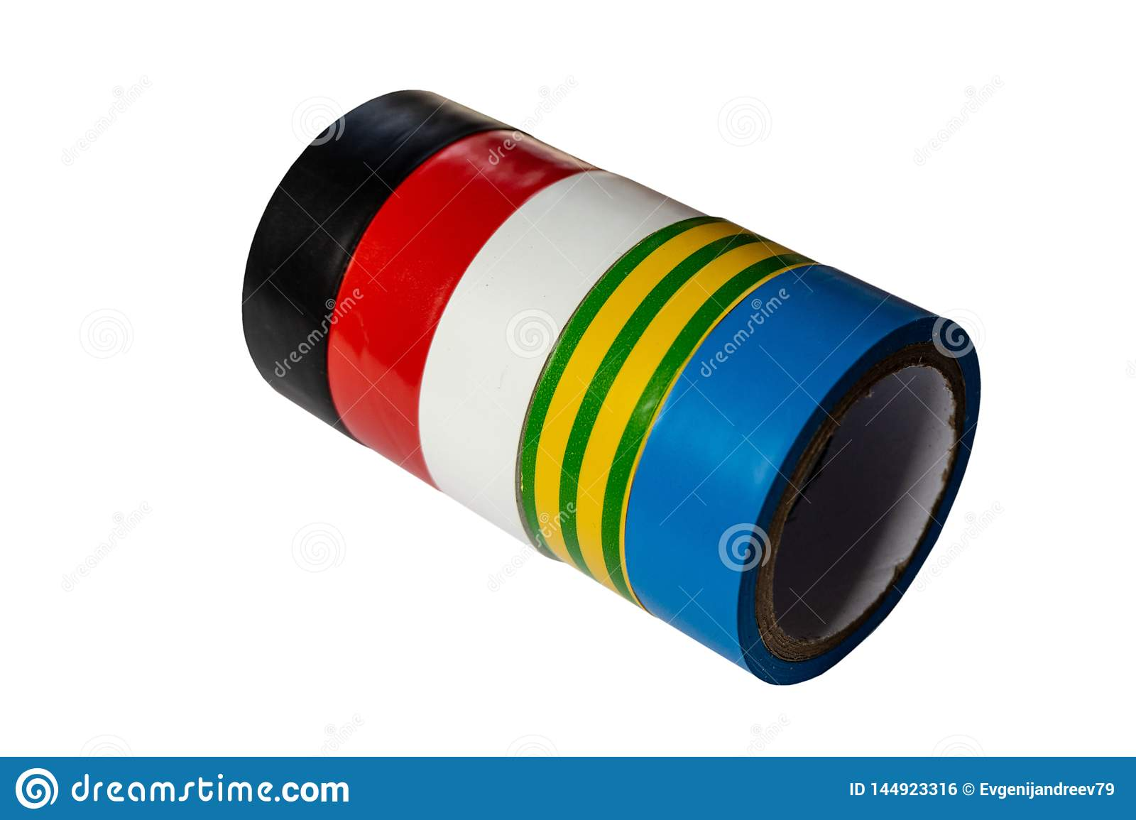 Rolls of a multi-colored  tape
