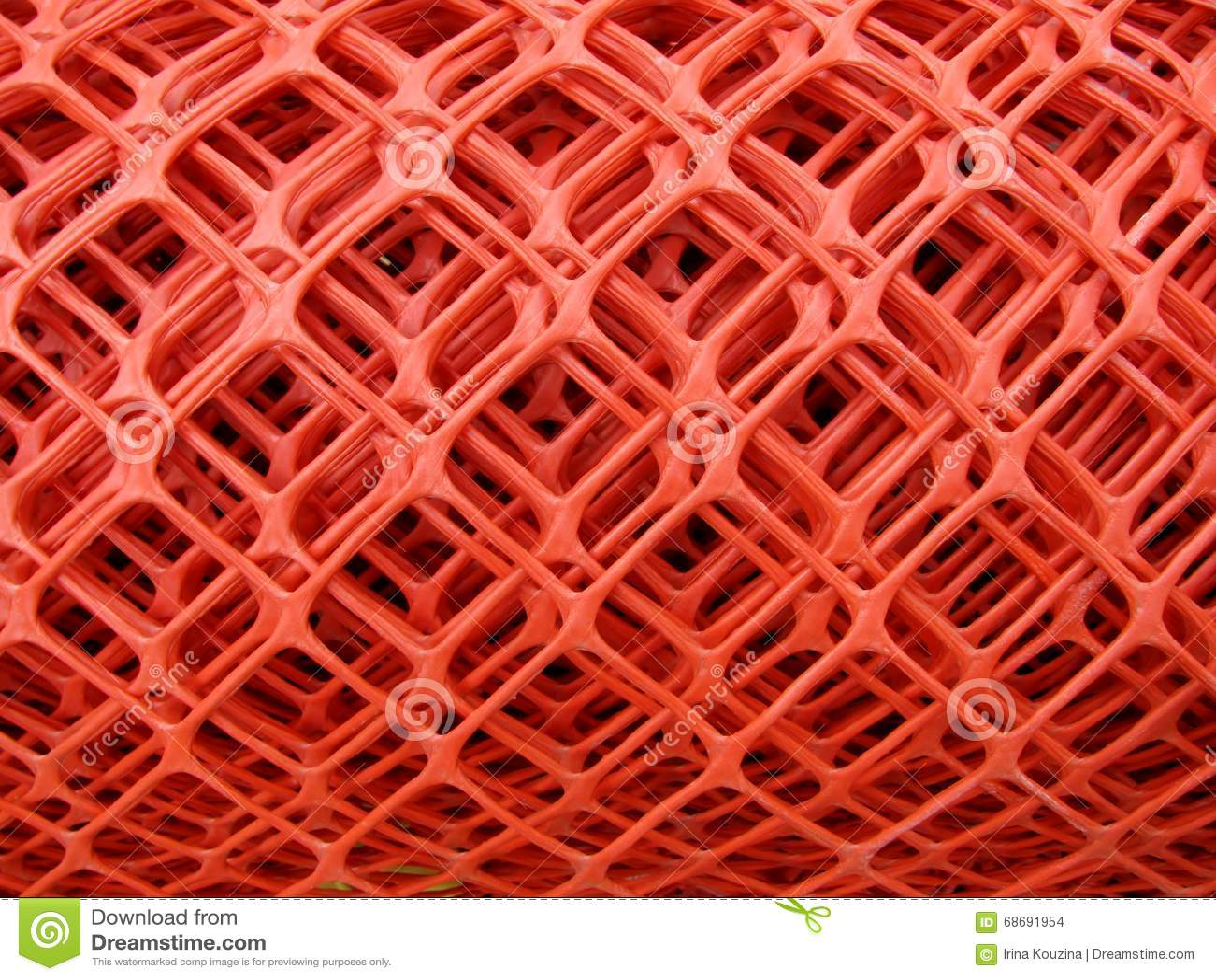 rolls of plastic fence mesh