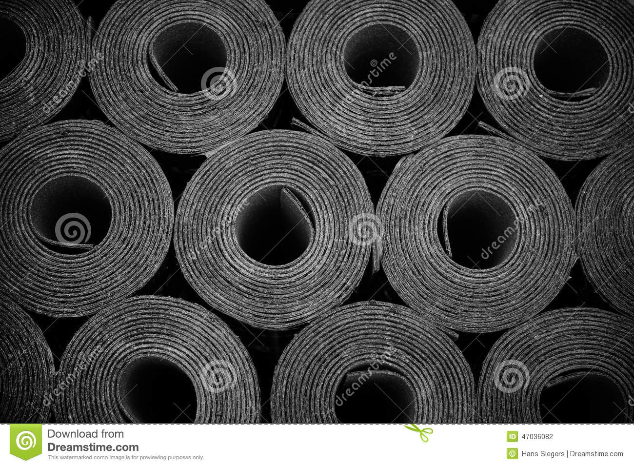 Rolls Of Roofing Felt Stock Photo Image 47036082