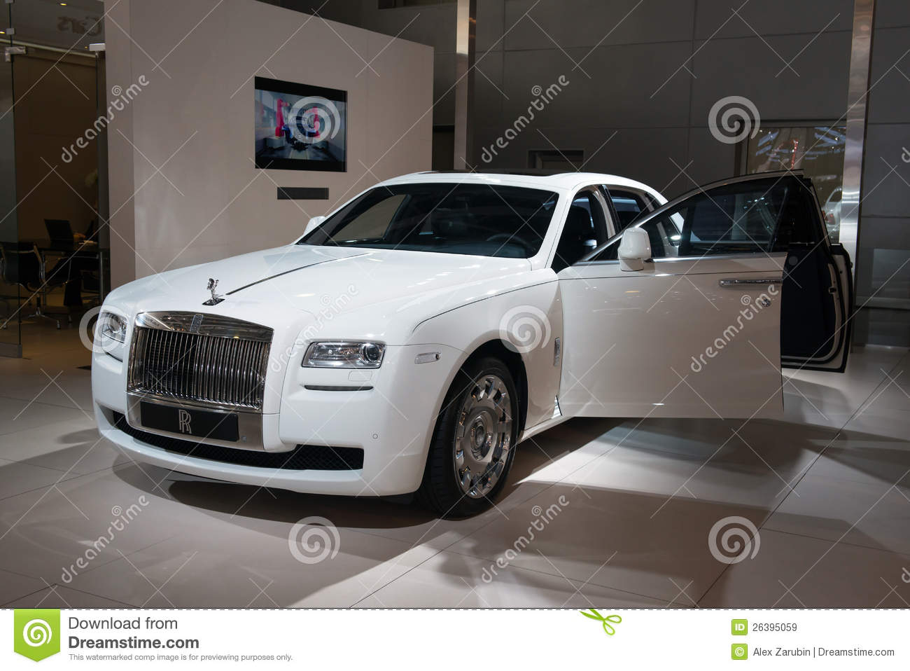 rolls royce ghost english white editorial stock image image of