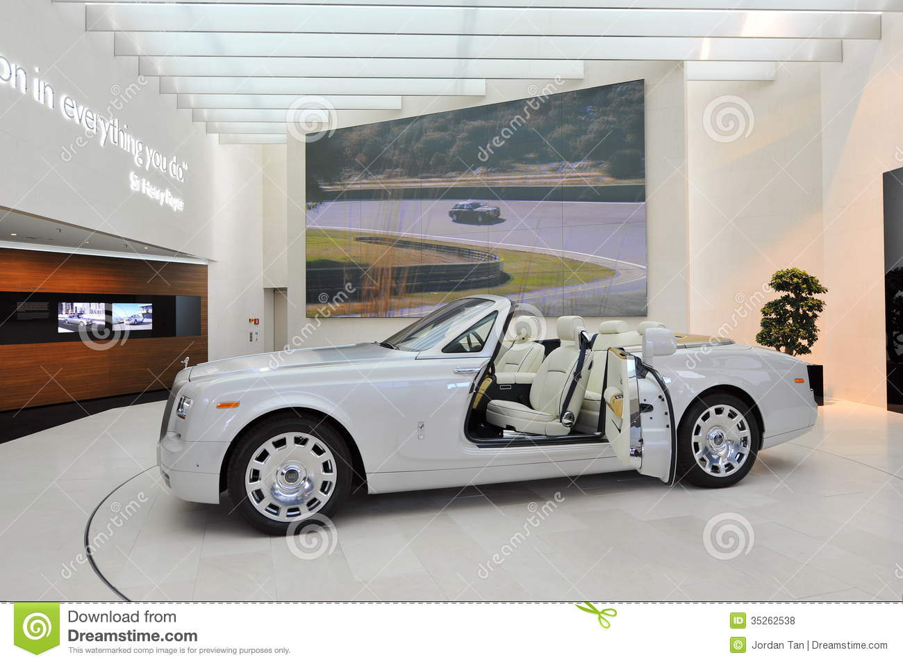 rolls royce phantom drophead coupe on display in bmw welt editorial